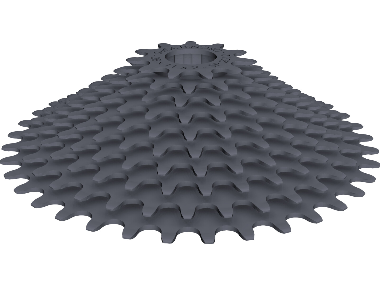Rear Cassette 10-speed 11-38 3D CAD Model