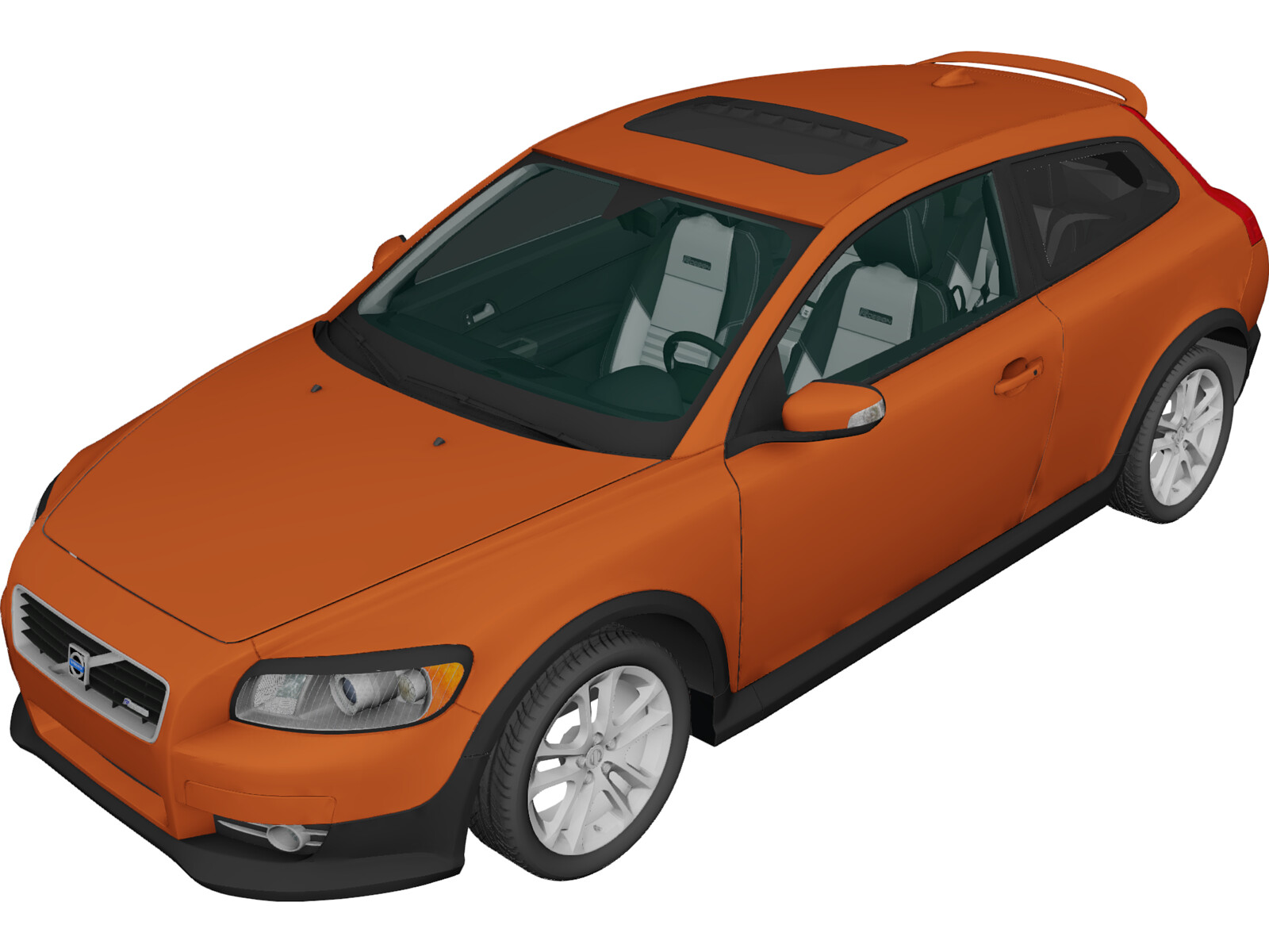 volvo c30 t5 r design 2008 3d model 3d cad browser. Black Bedroom Furniture Sets. Home Design Ideas
