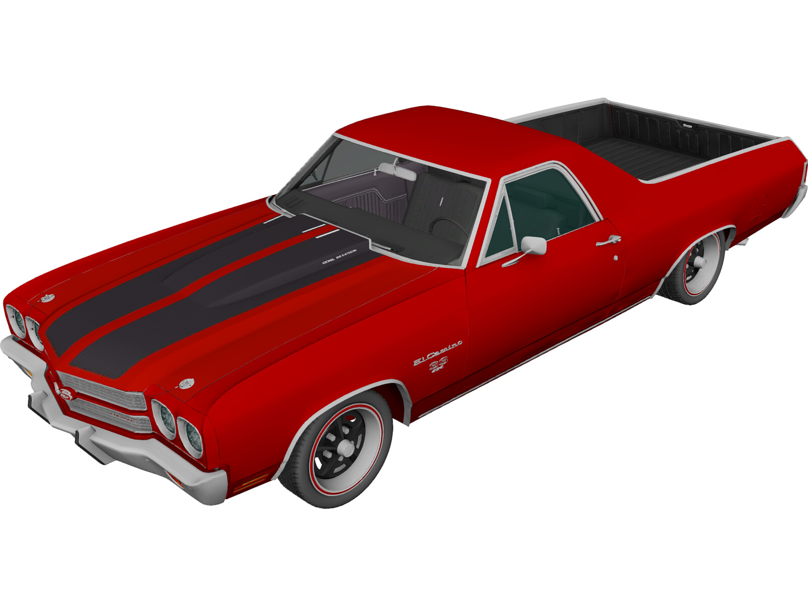 Chevrolet El Camino SS 454 (1970) 3D Model