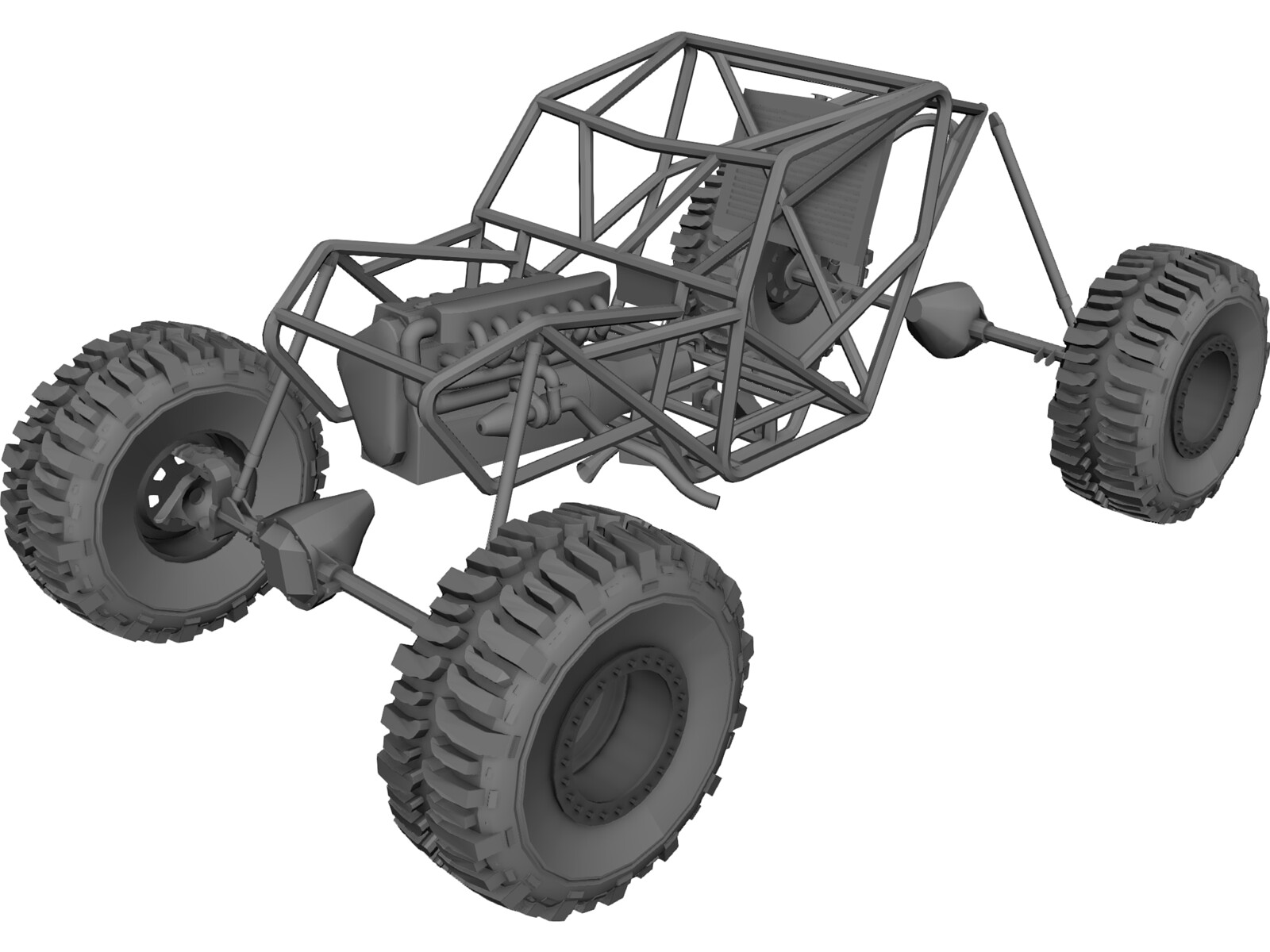 Proto Tube Rock Crawler Chassis 3D Model - 3D CAD Browser