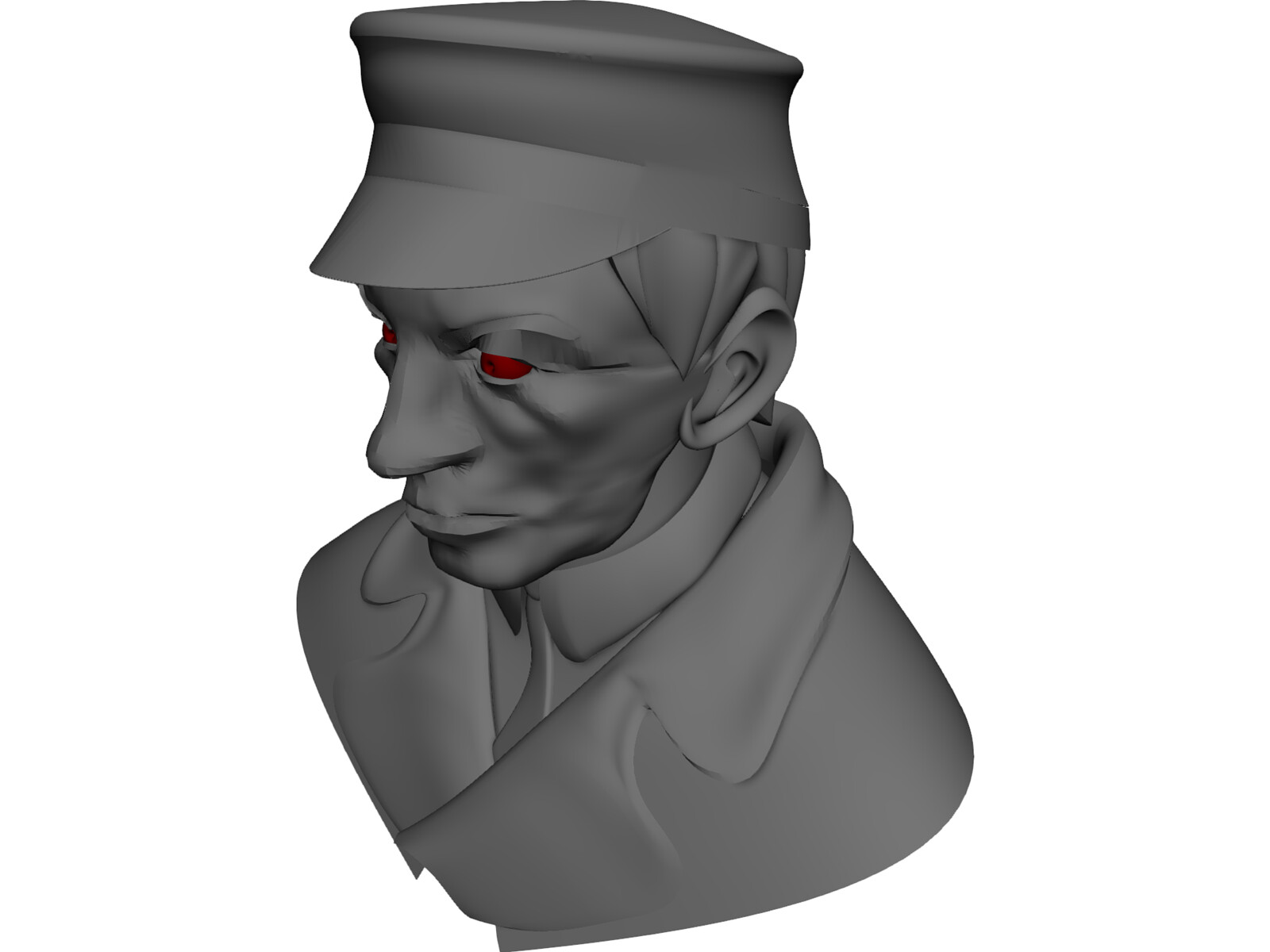 Man in Hat and Suit 3D Model