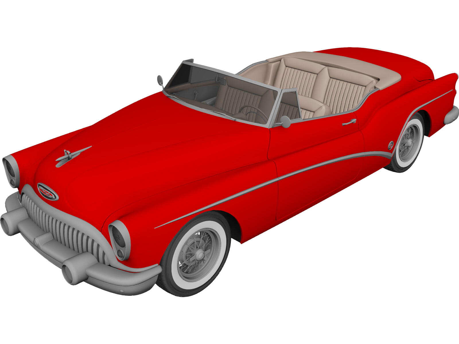 Buick Skylark Convertible (1953) 3D Model