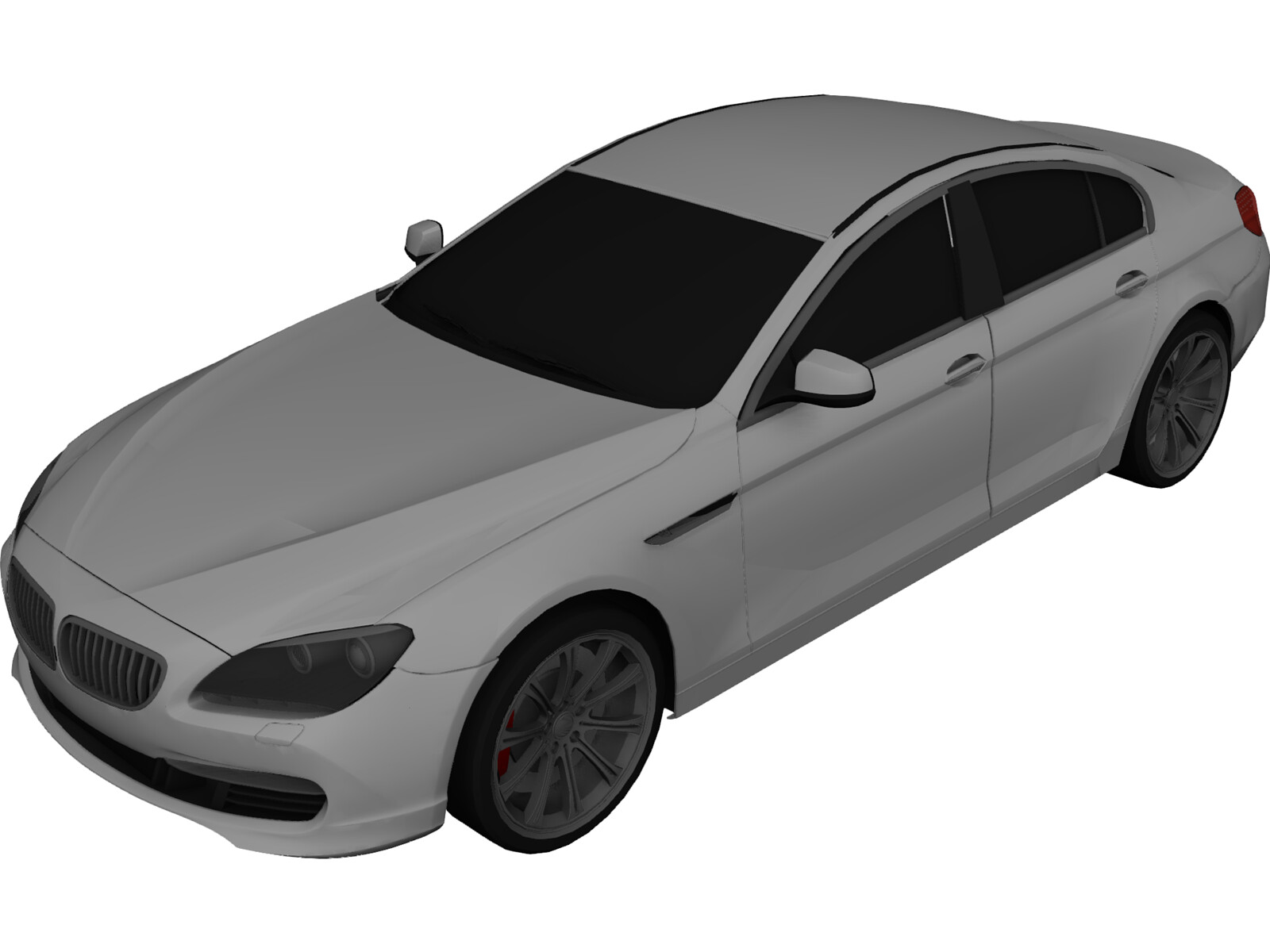 BMW 6-Series Gran Coupe F06 3D Model