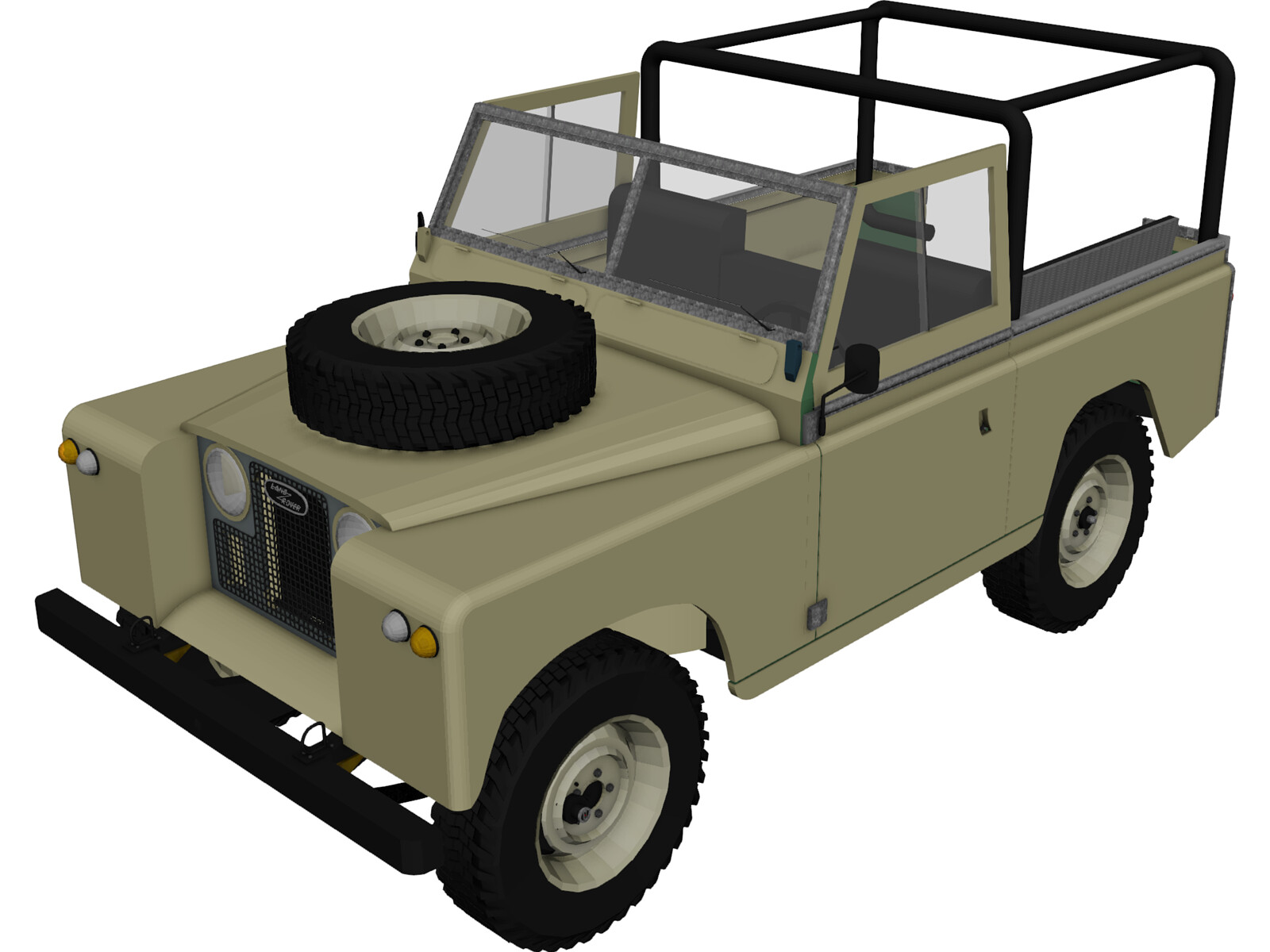 Land Rover Series IIa 88 3D Model