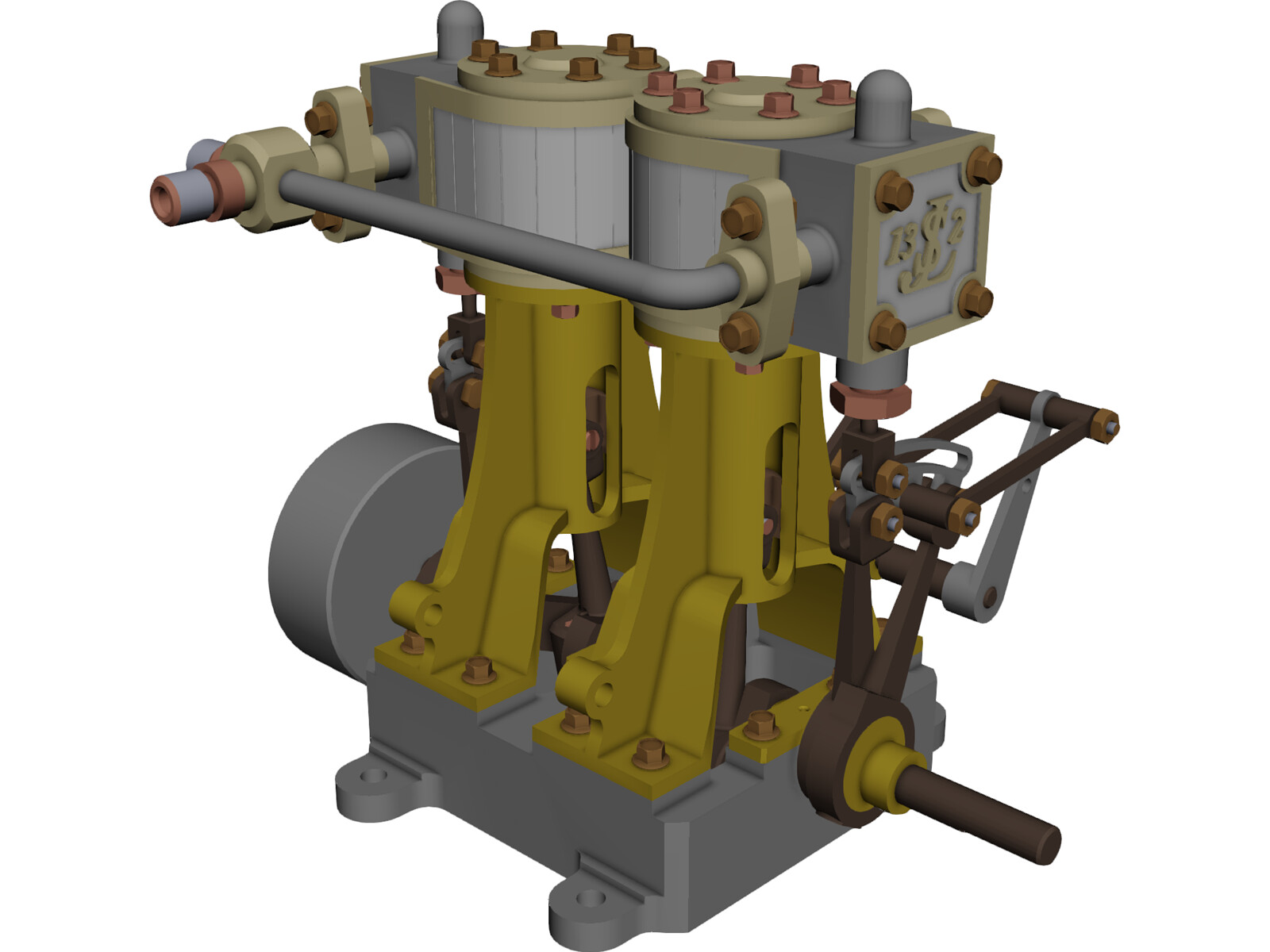 Steam Engine JLS-13-2 3D CAD Model