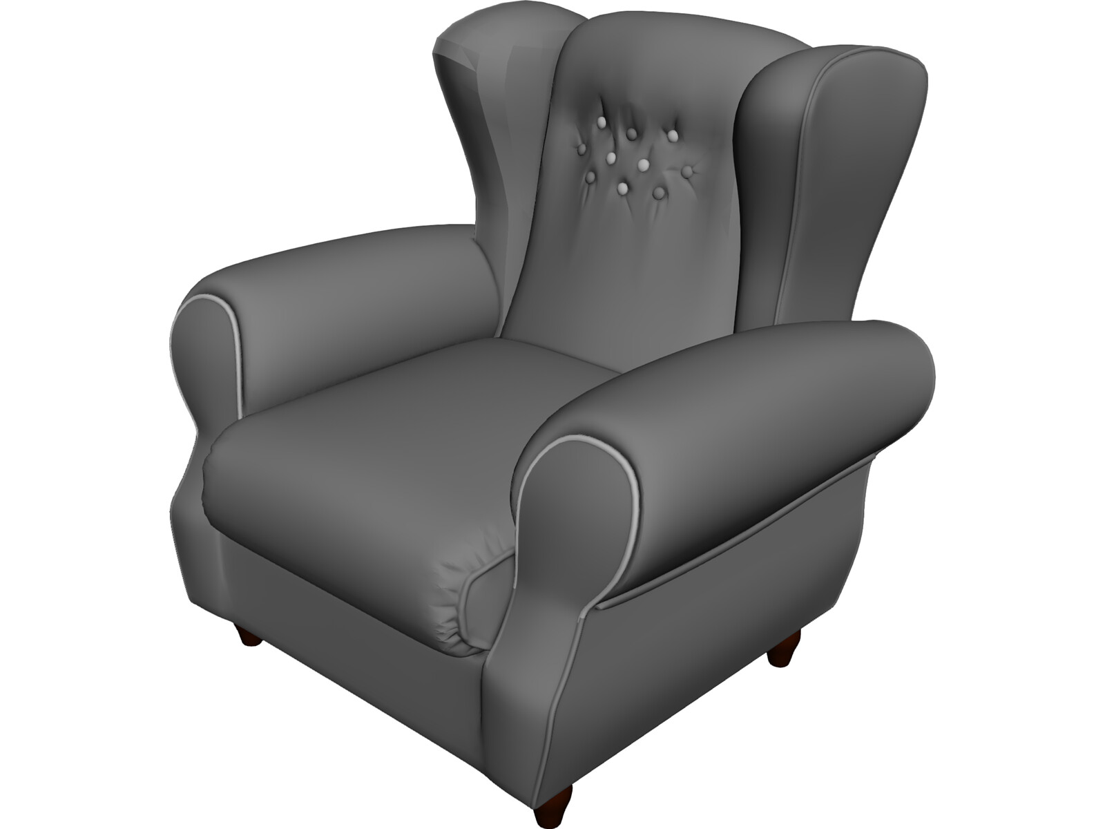 Armchair Old Fashioned 3D Model - 3D CAD Browser