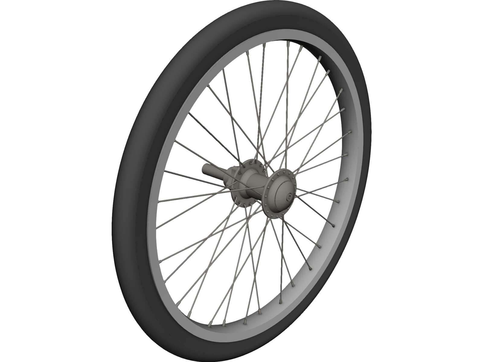 Bicycle wheel 20 3d cad model for autocad solidworks inventor pro