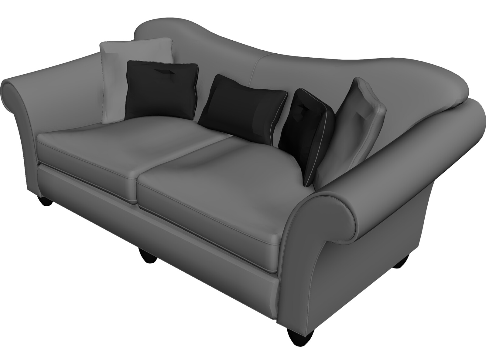 Sofa 3d model 3d cad browser for Canape software