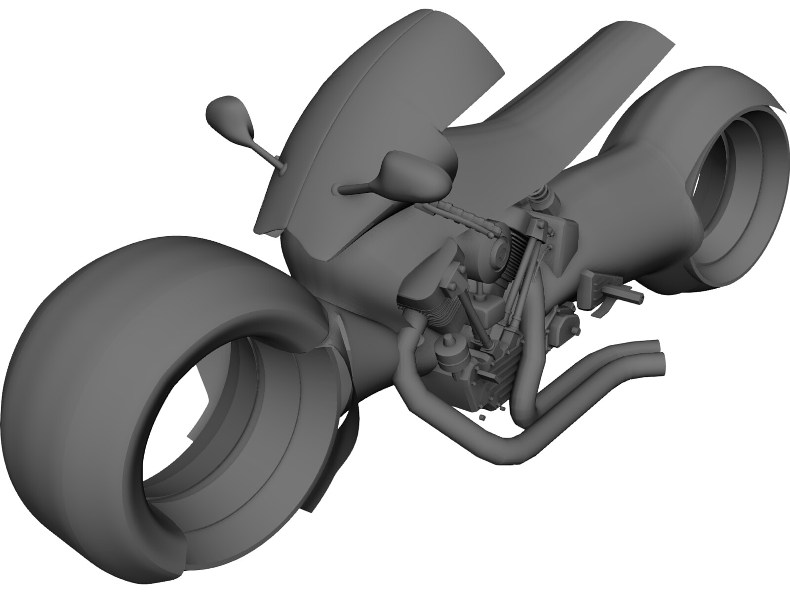 Connecting Rod Bike Concept 3D Model