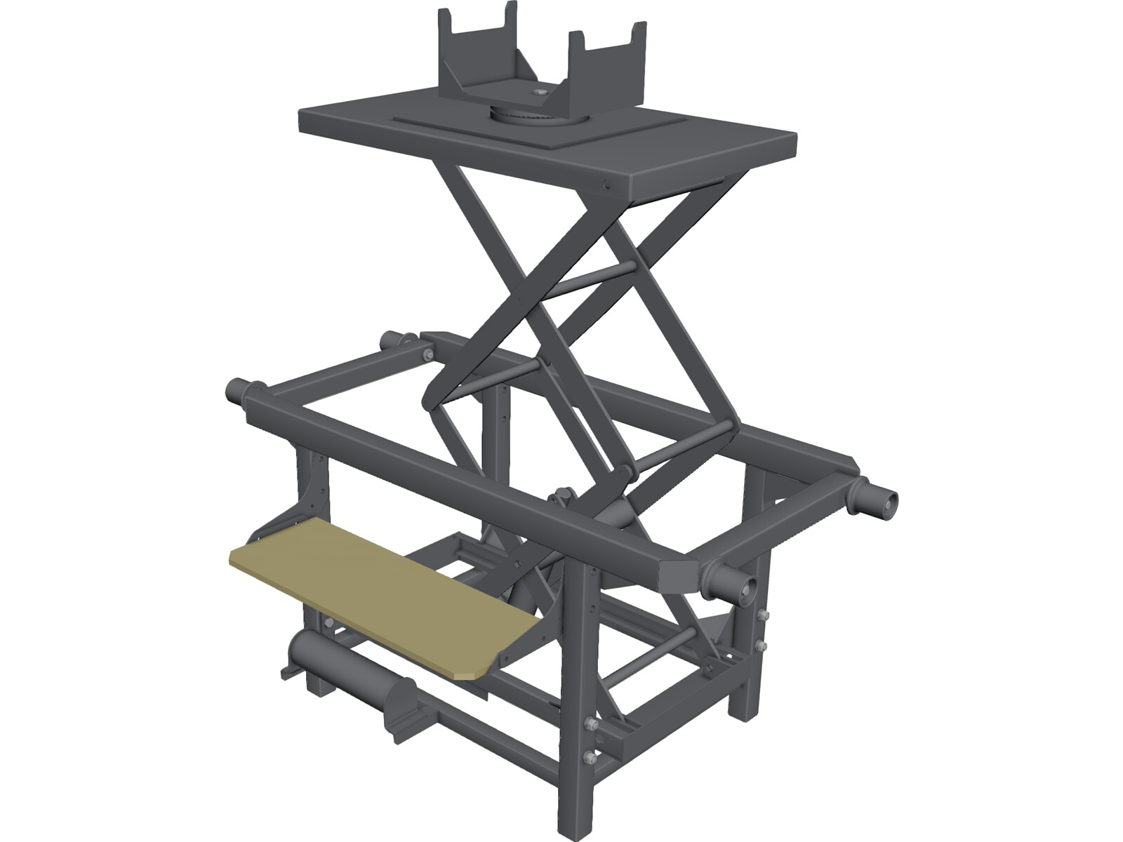 Trolley with Hidraulic Lifter 3D CAD Model