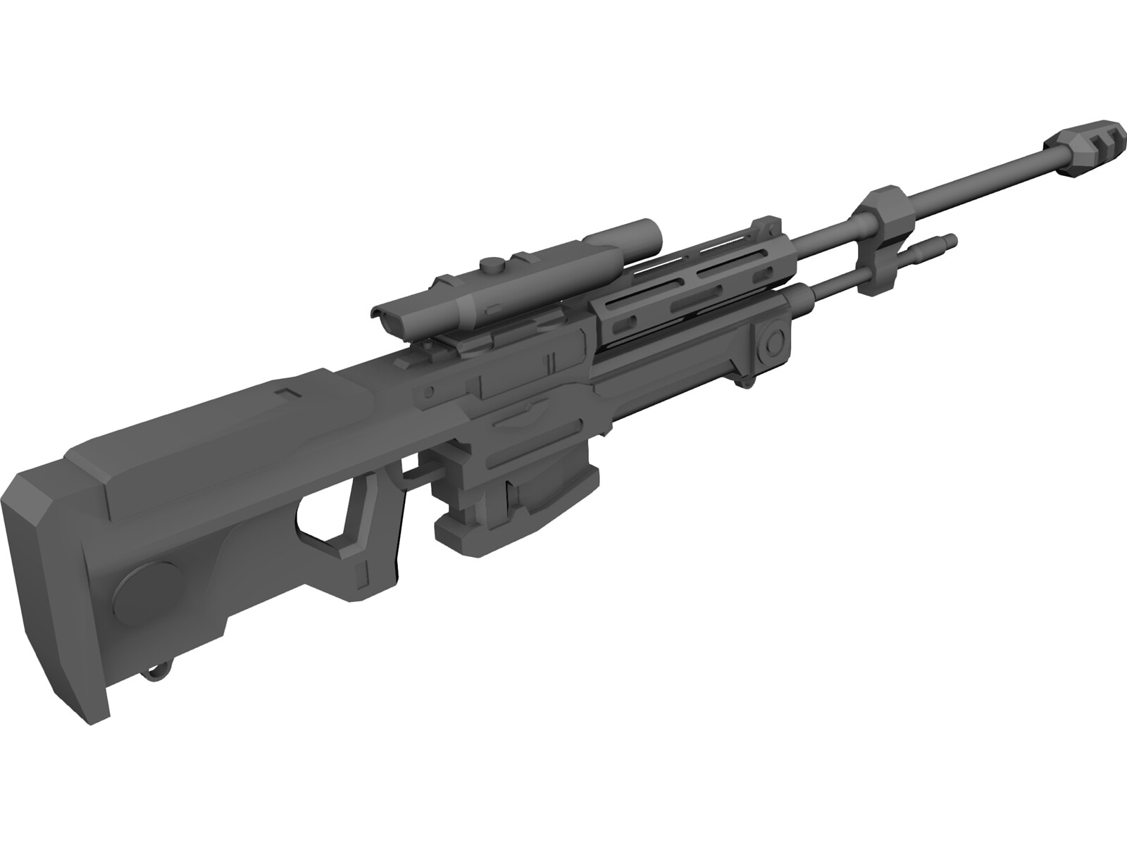 Halo Reach Sniper Rifle 3D Model - 3D CAD Browser