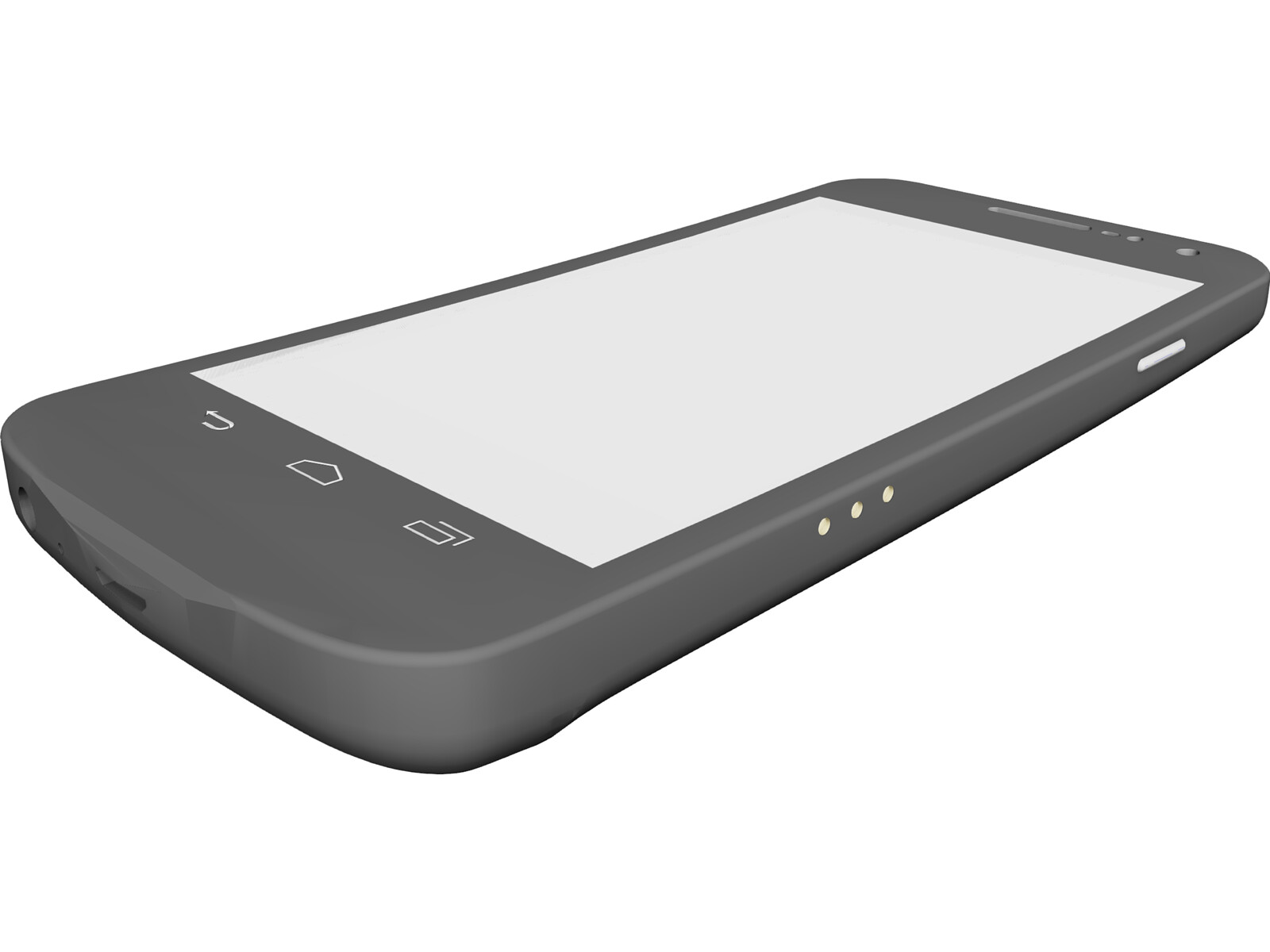 Galaxy Nexus Mobile Phone 3D CAD Model