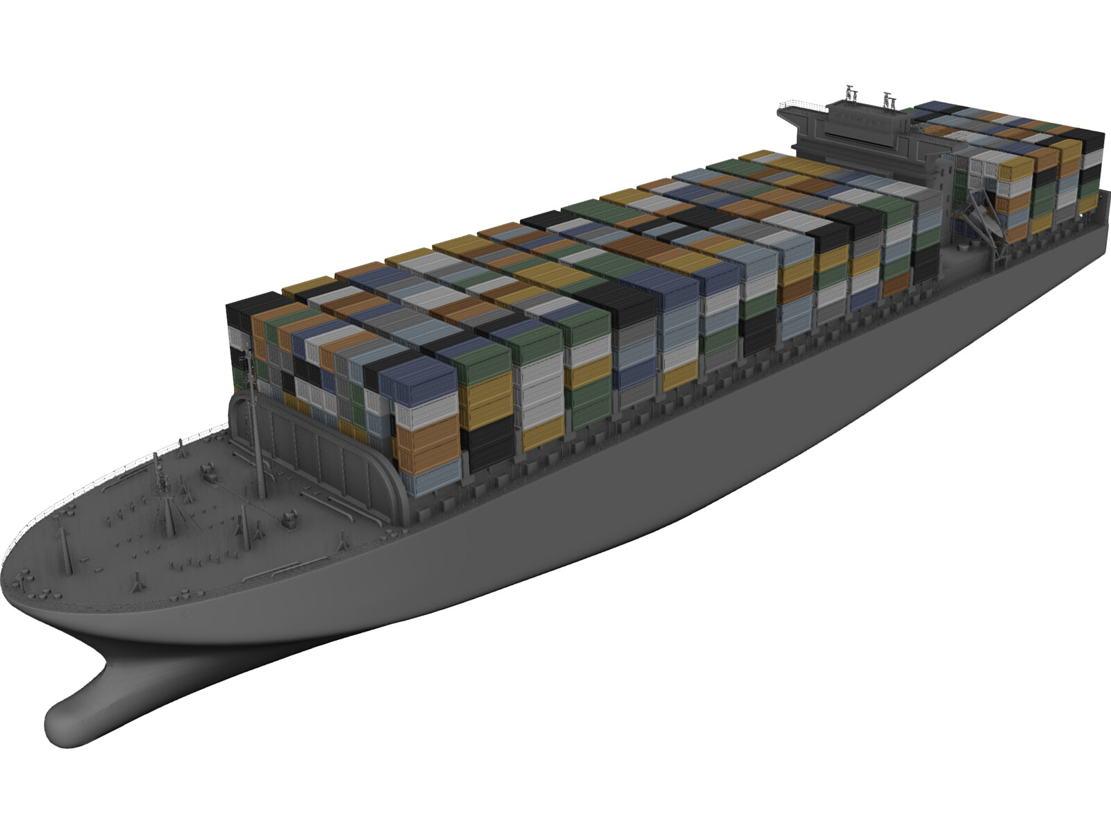 Container Ship 3D Model - 3D CAD Browser