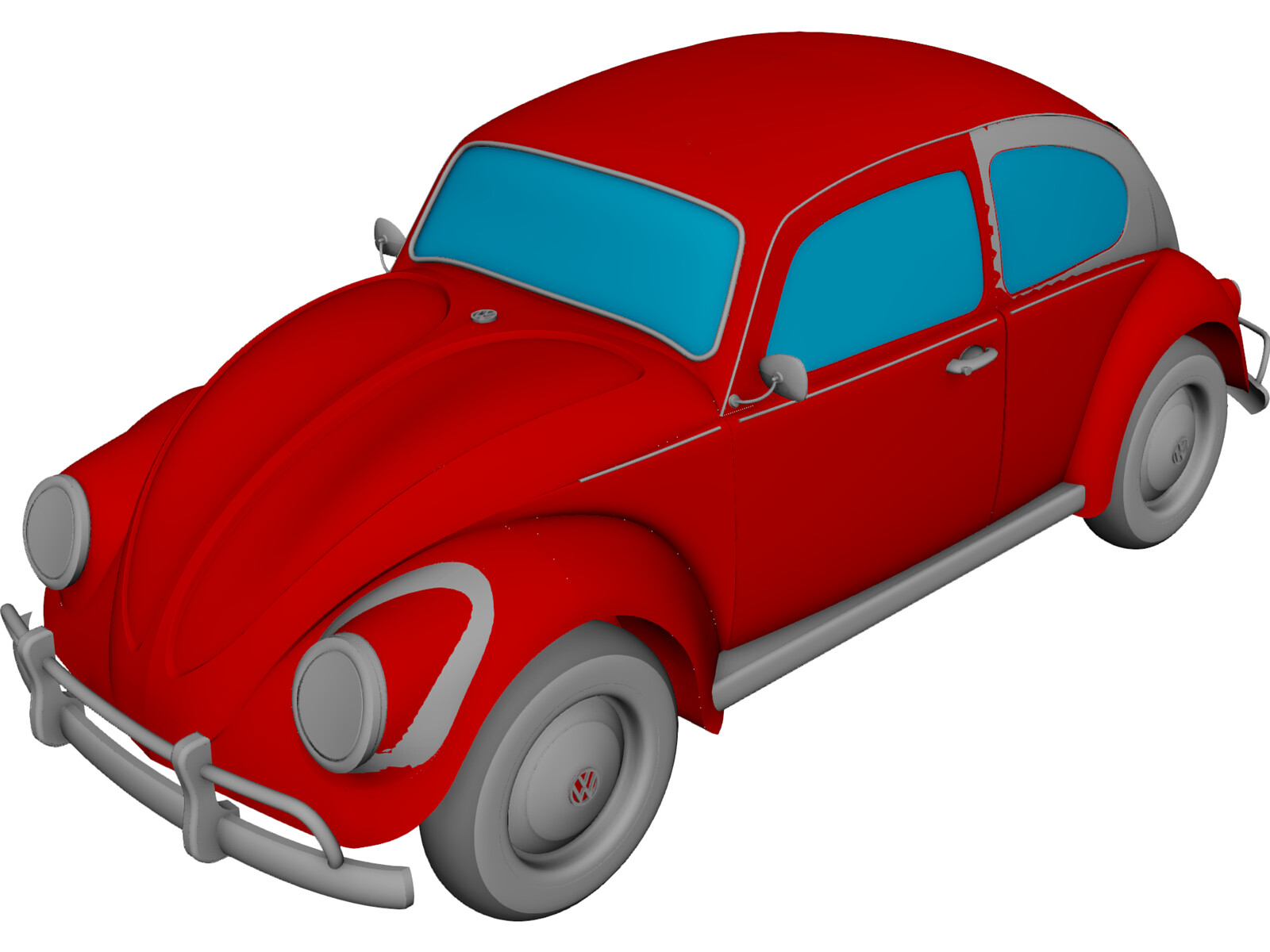 Volkswagen Beetle 3D CAD Model