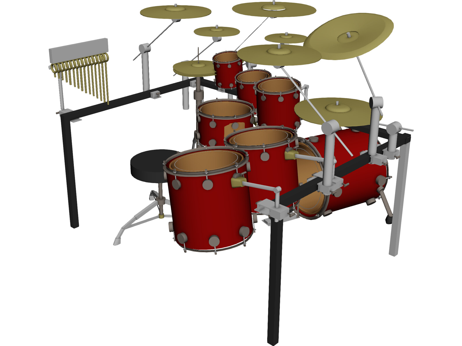 Fantastic Anatomy Of A Drum Kit Motif - Anatomy And Physiology ...
