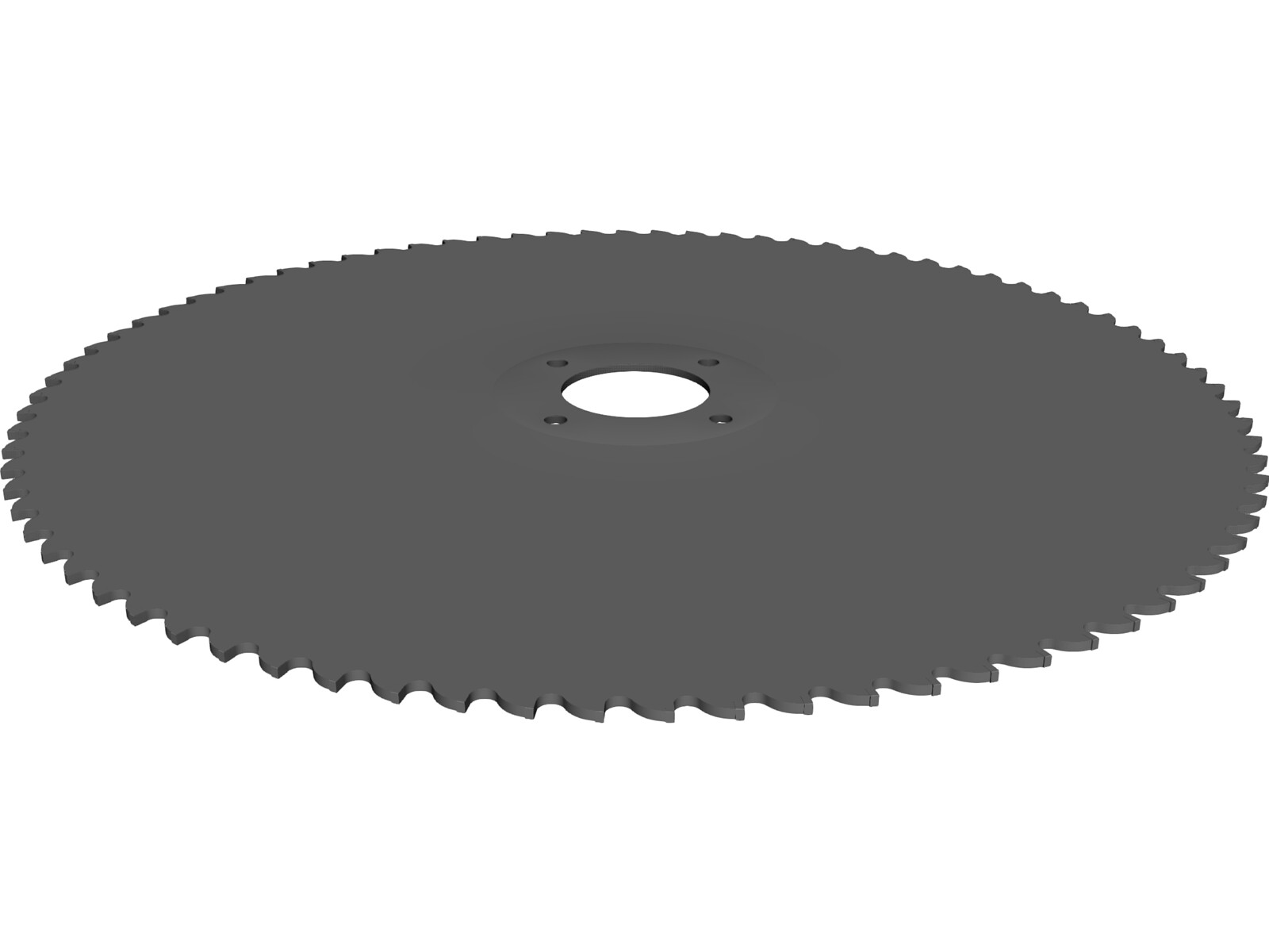 Table Saw Blade 10 inch 3D CAD Model