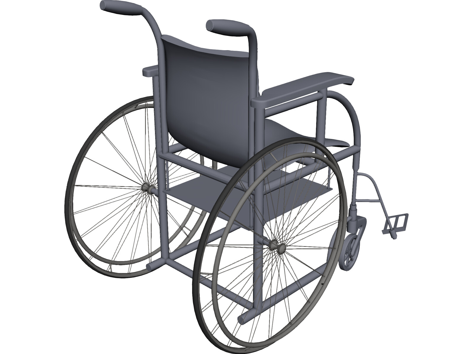 Wheelchair 3D CAD Model