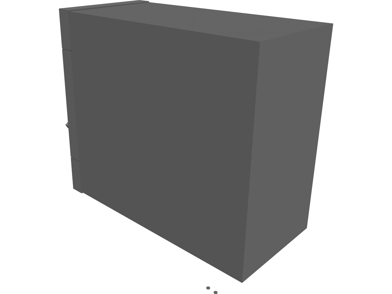 Secure Vault with Laser Security 3D Model