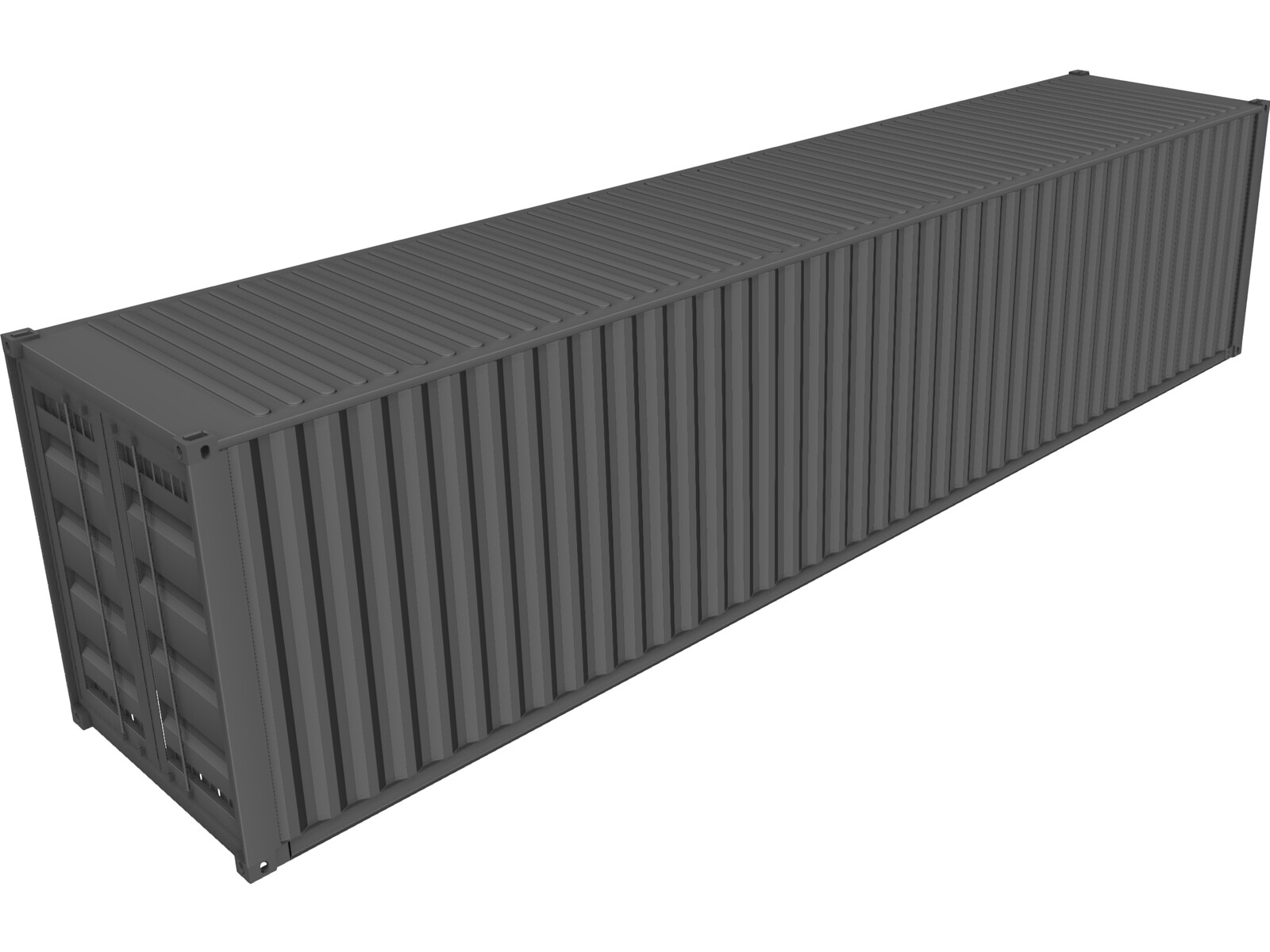 Shipping Container 40` [NURBS] 3D Model
