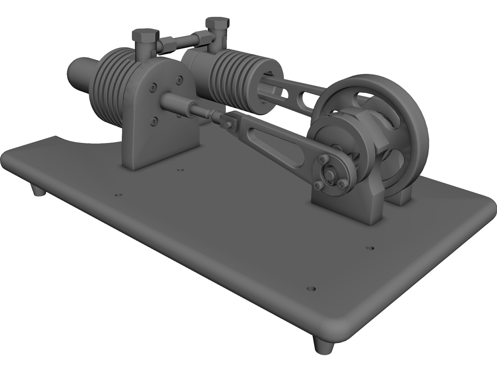 Stirling Engine 3D CAD Model