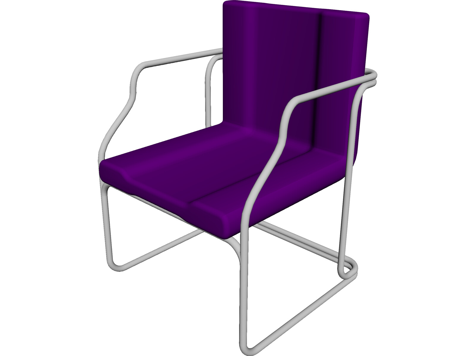 Chair guest 3d model 3d cad browser for Chair 3d model maya