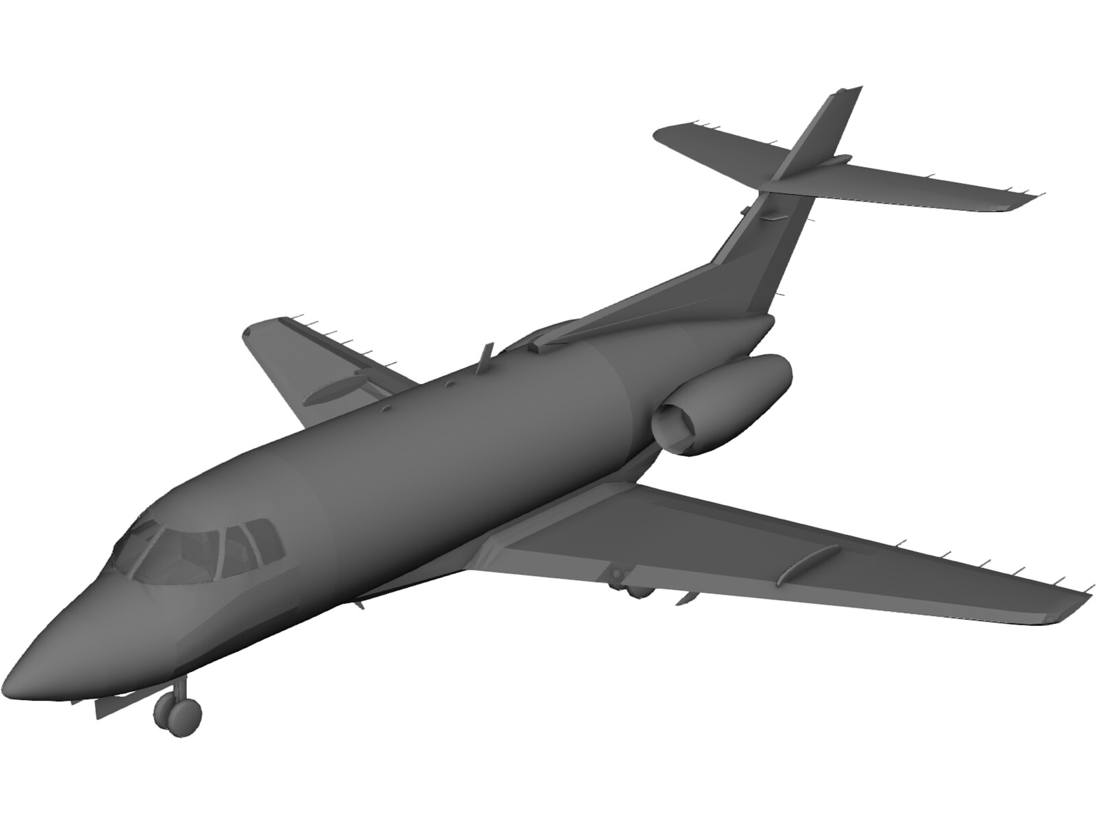 British Aerospace BAe 125 3D Model