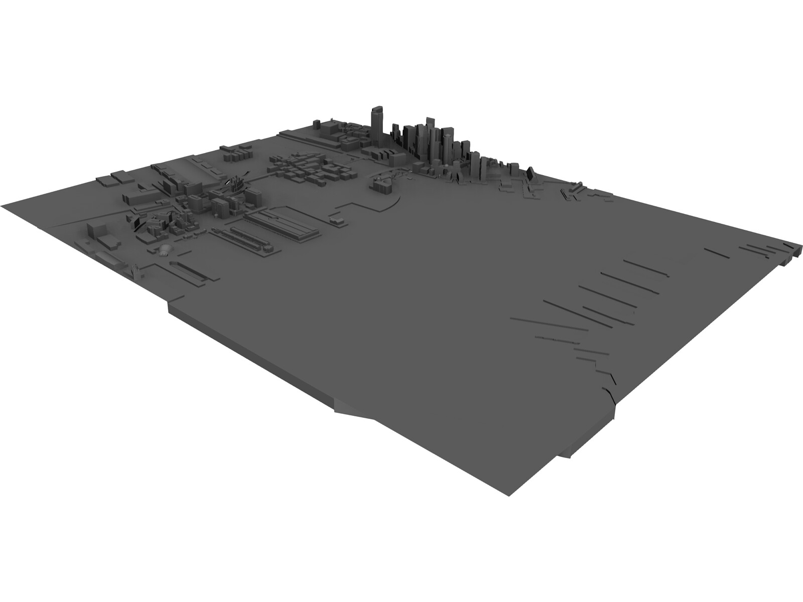 City Part Boston South 3D Model