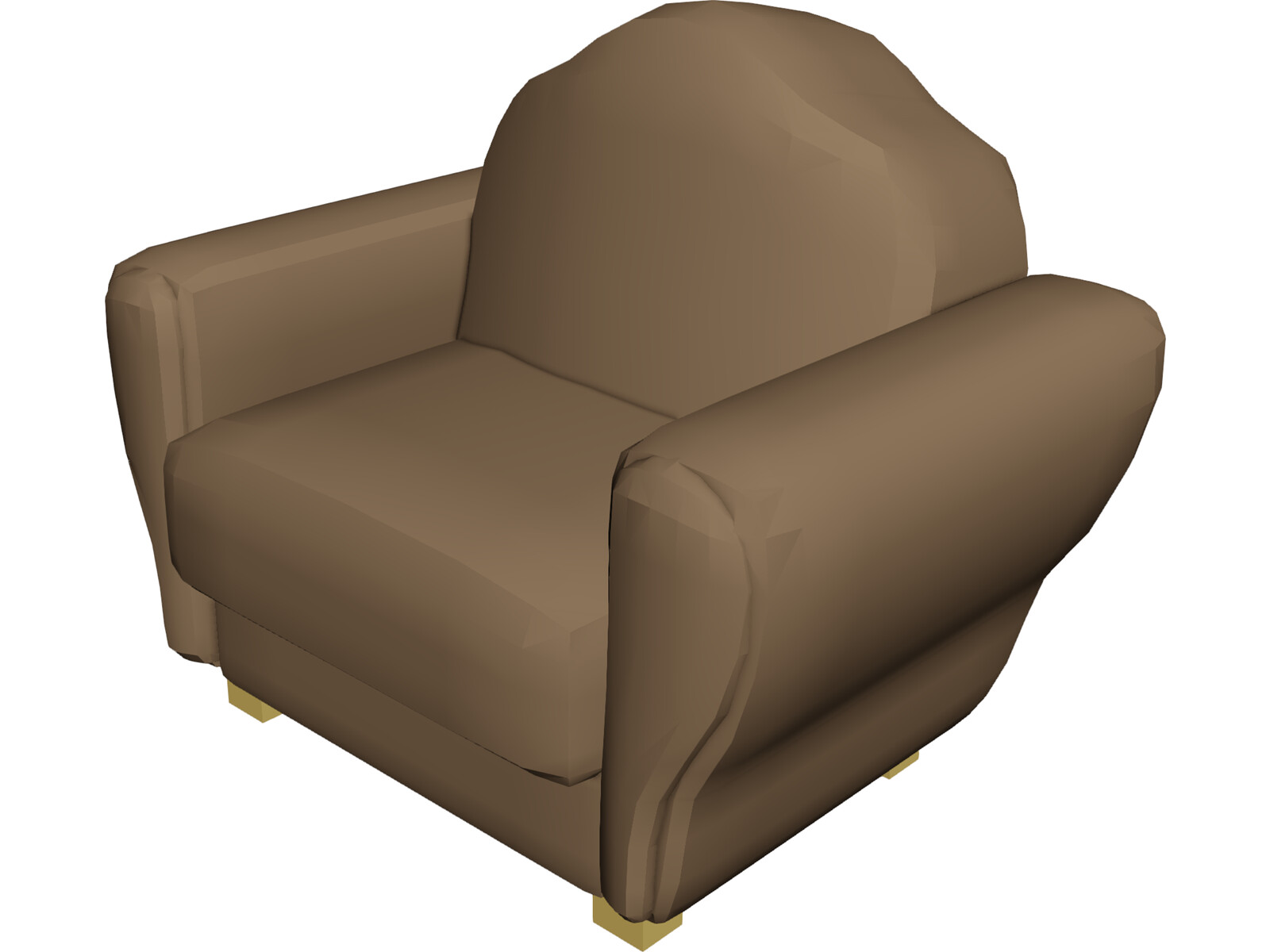 Chair leather 3d model 3d cad browser for Chair 3d model maya