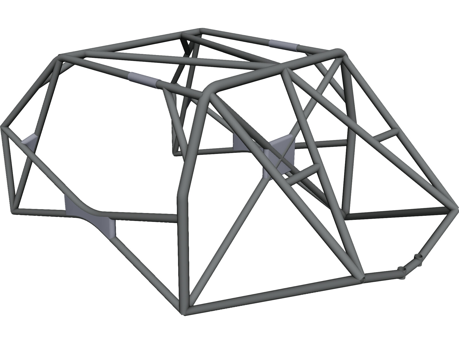 roll cage fia 3d cad model