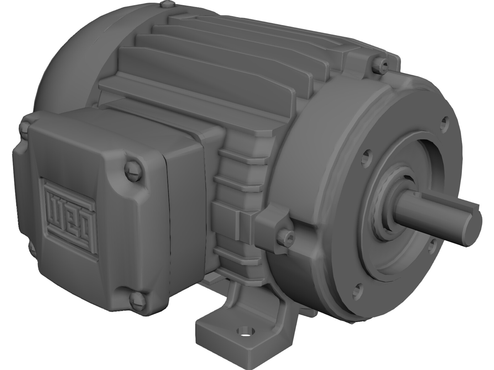 weg 75hp motor 3d cad model 3d cad browser