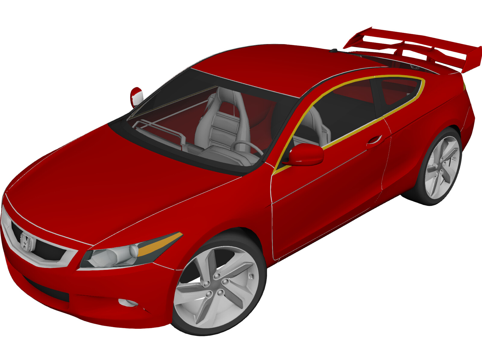 Honda Accord Sport (2010) 3D Model