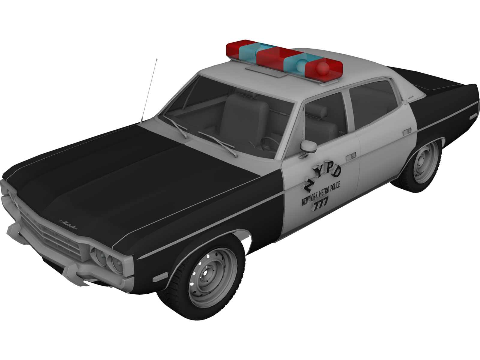 Police Car Nypd 3d Model 3d Cad Browser