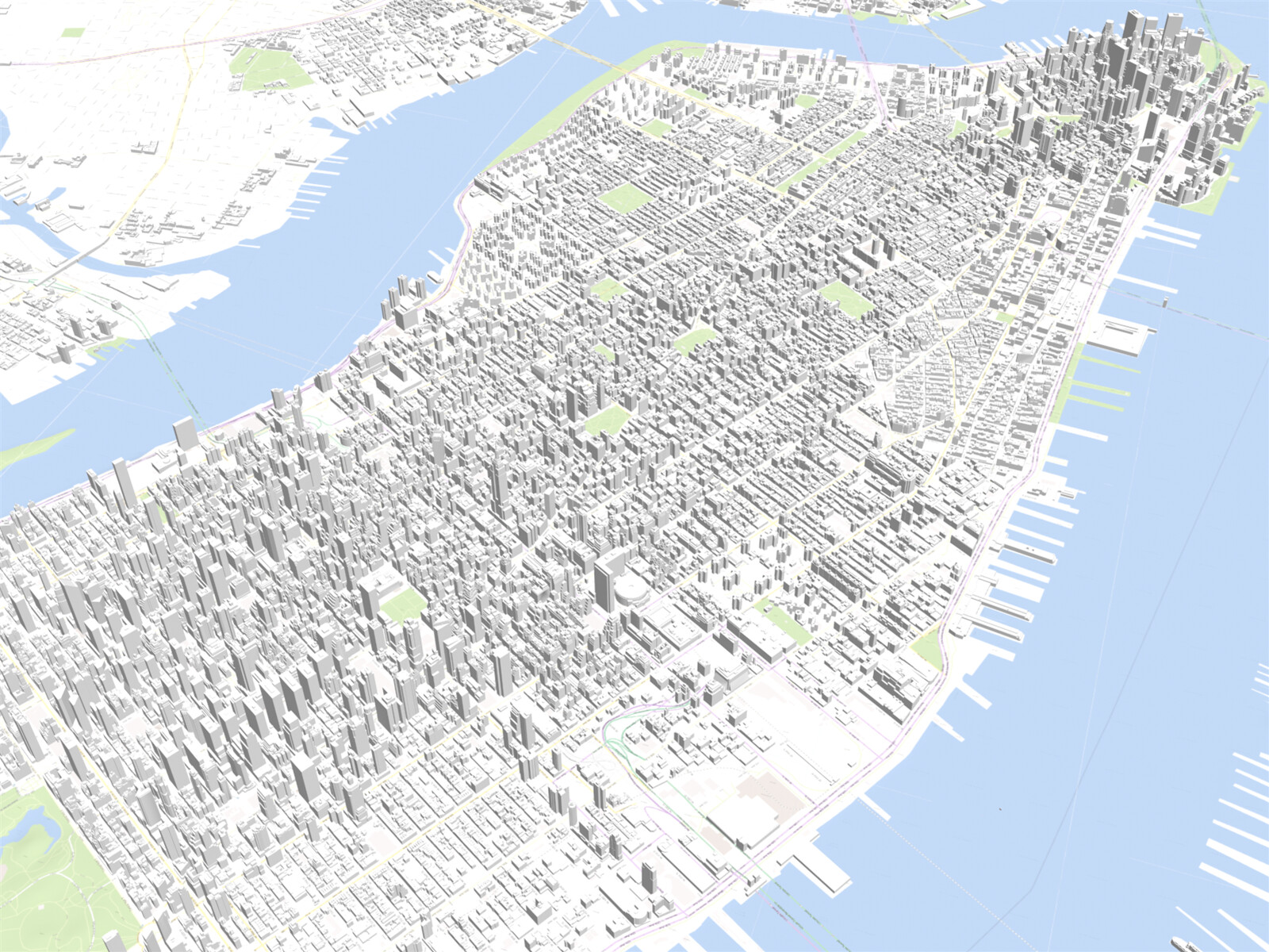 New York City Map Manhattan