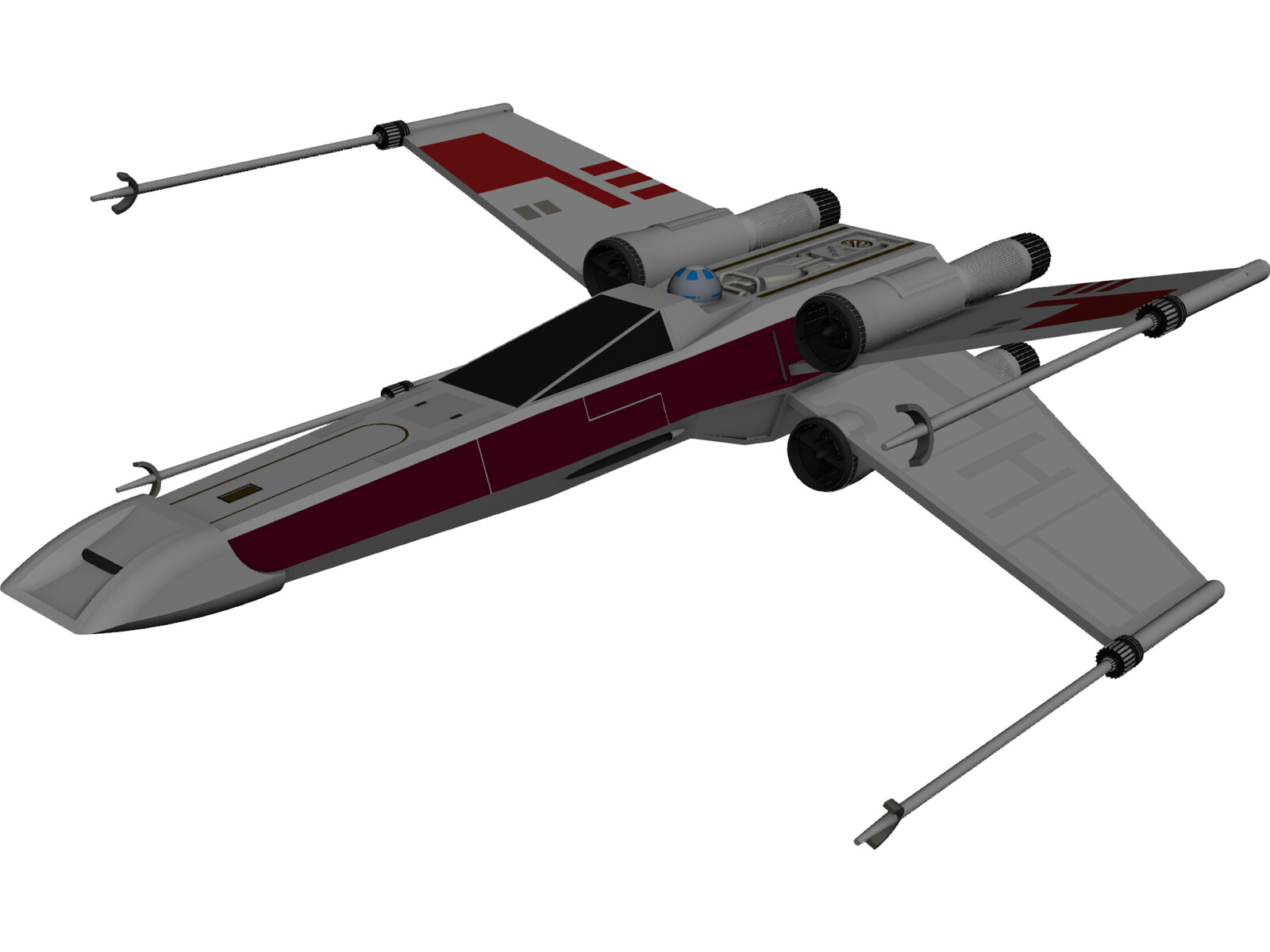 how to draw an x wing on autocad