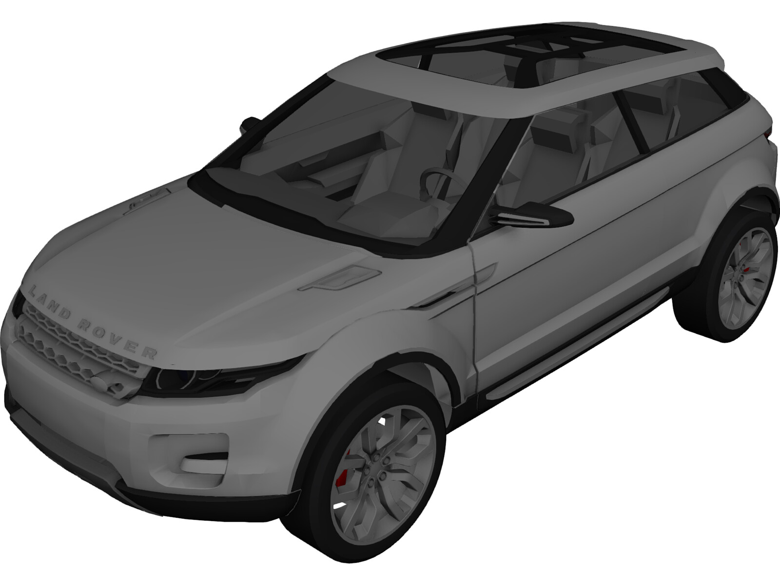 Land Rover LRX Concept (2008) 3D Model