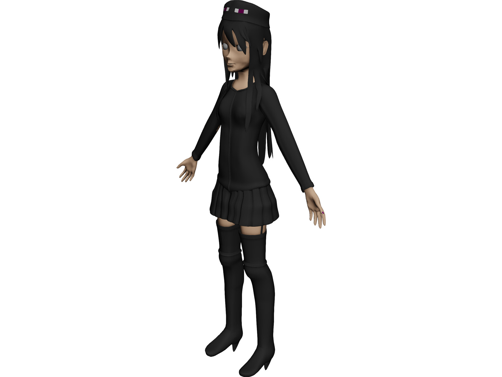 Andr the EnderGirl 3D Model