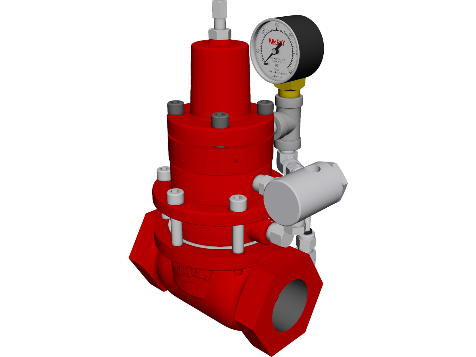 Kimray Pressure Regulator 3D Model