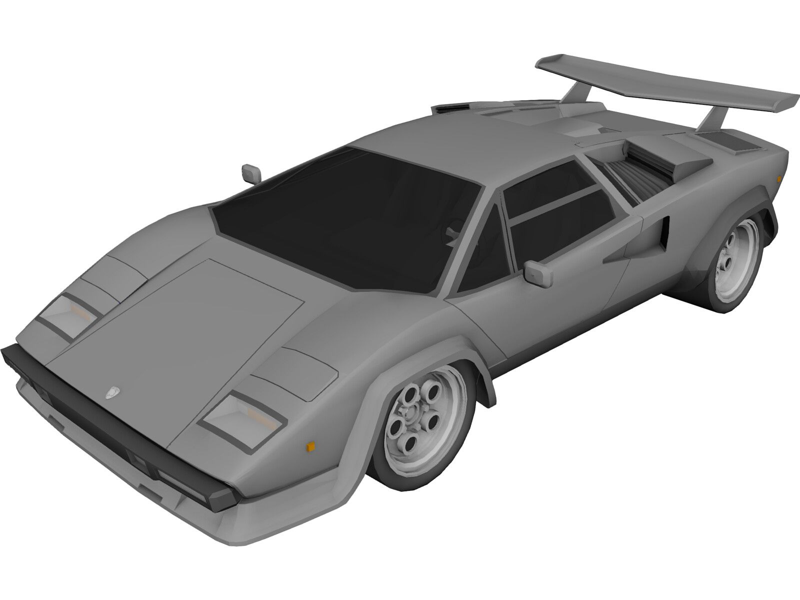 lamborghini countach lp500 3d model 3d cad browser. Black Bedroom Furniture Sets. Home Design Ideas