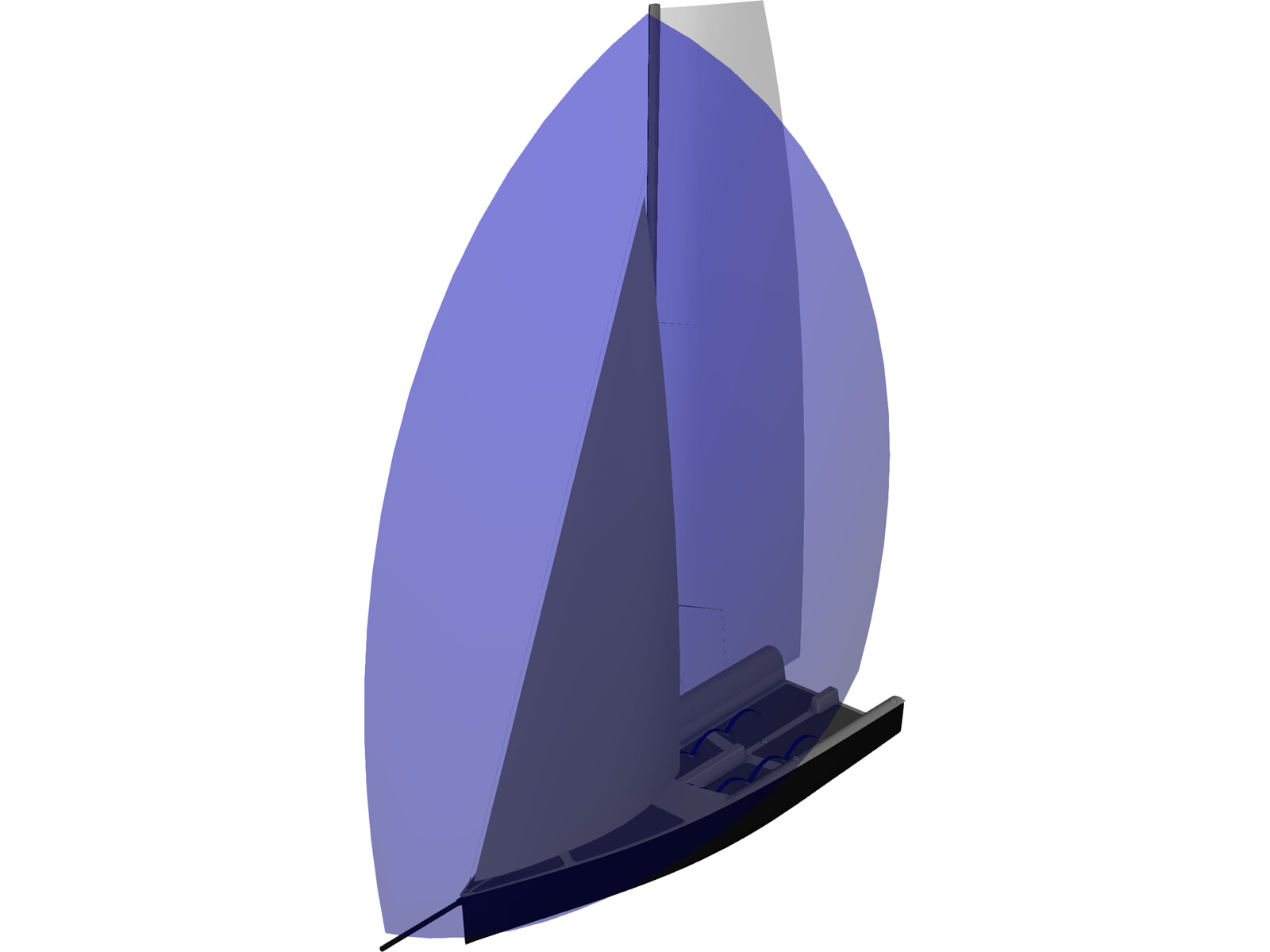 Mini Sail Boat 3D Model