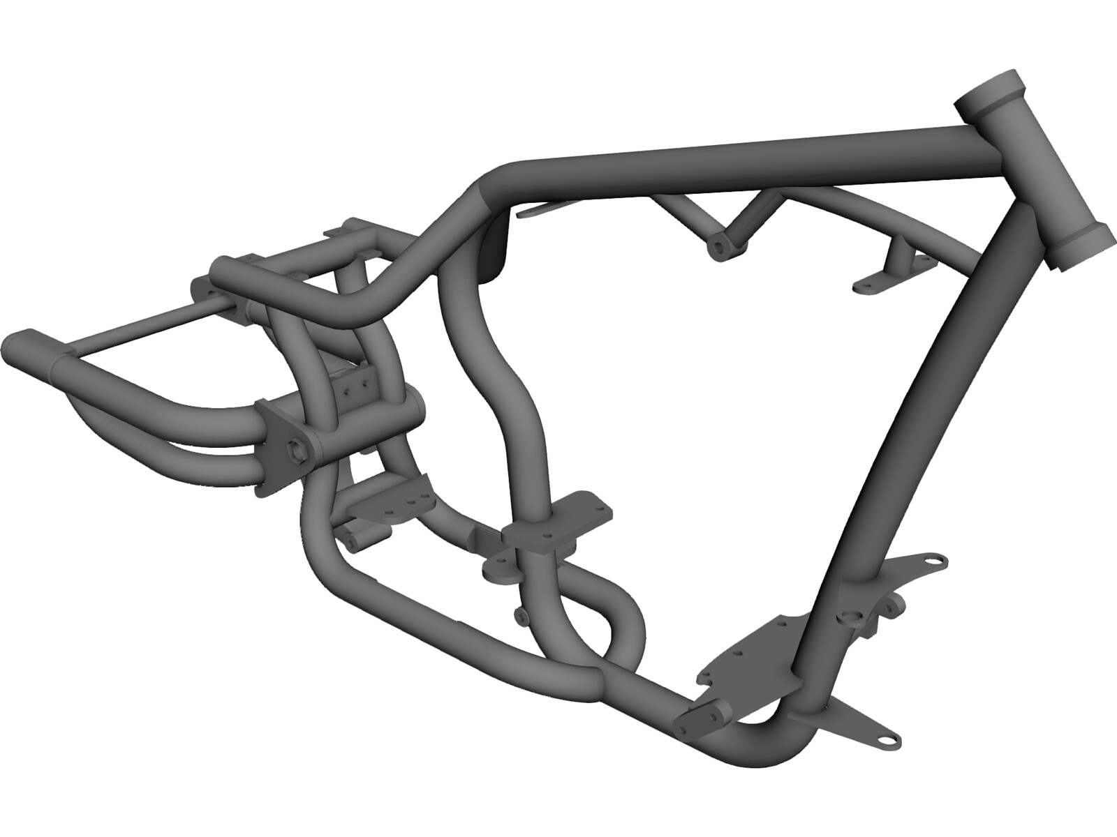 harley frame 3d model