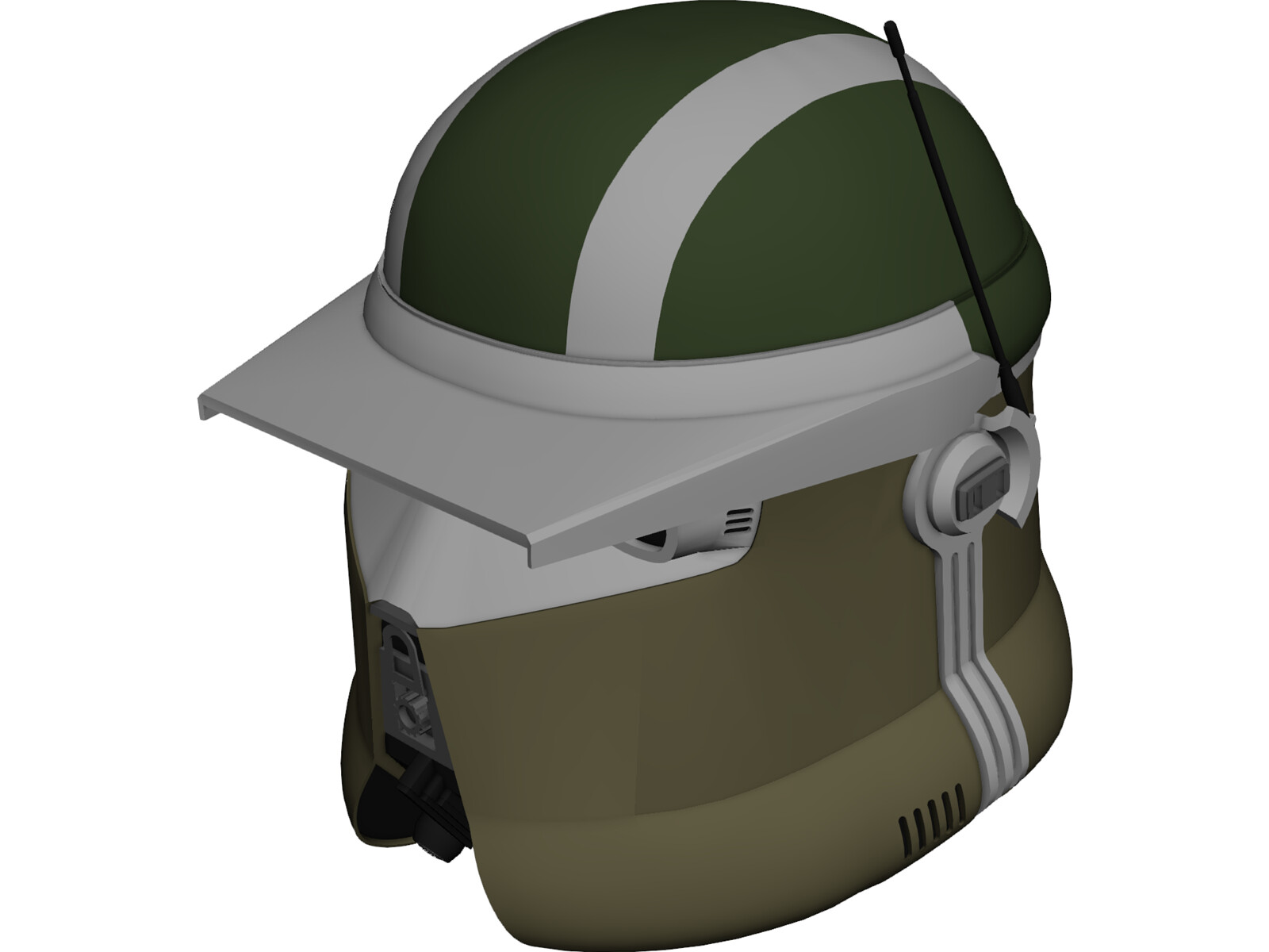 Star Wars AT-TE Gunner Helmet 3D Model