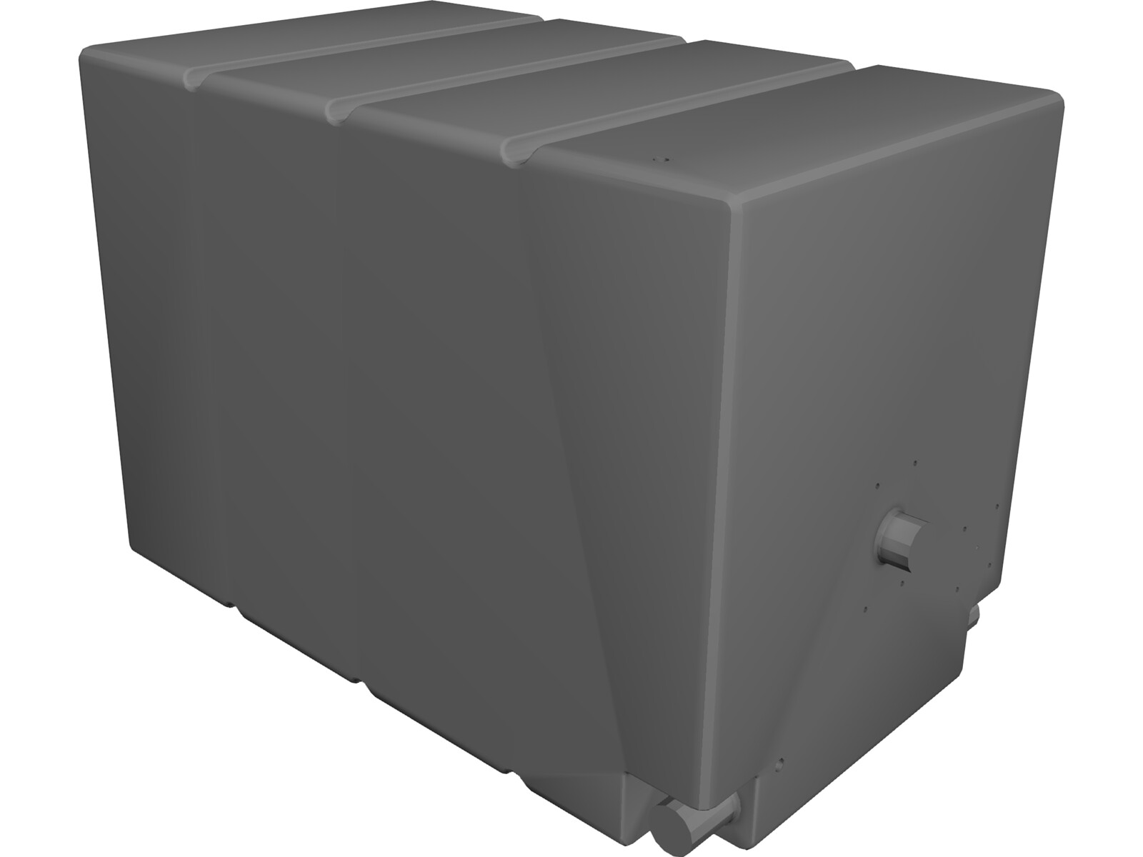 Square Water Tank 3D CAD Model