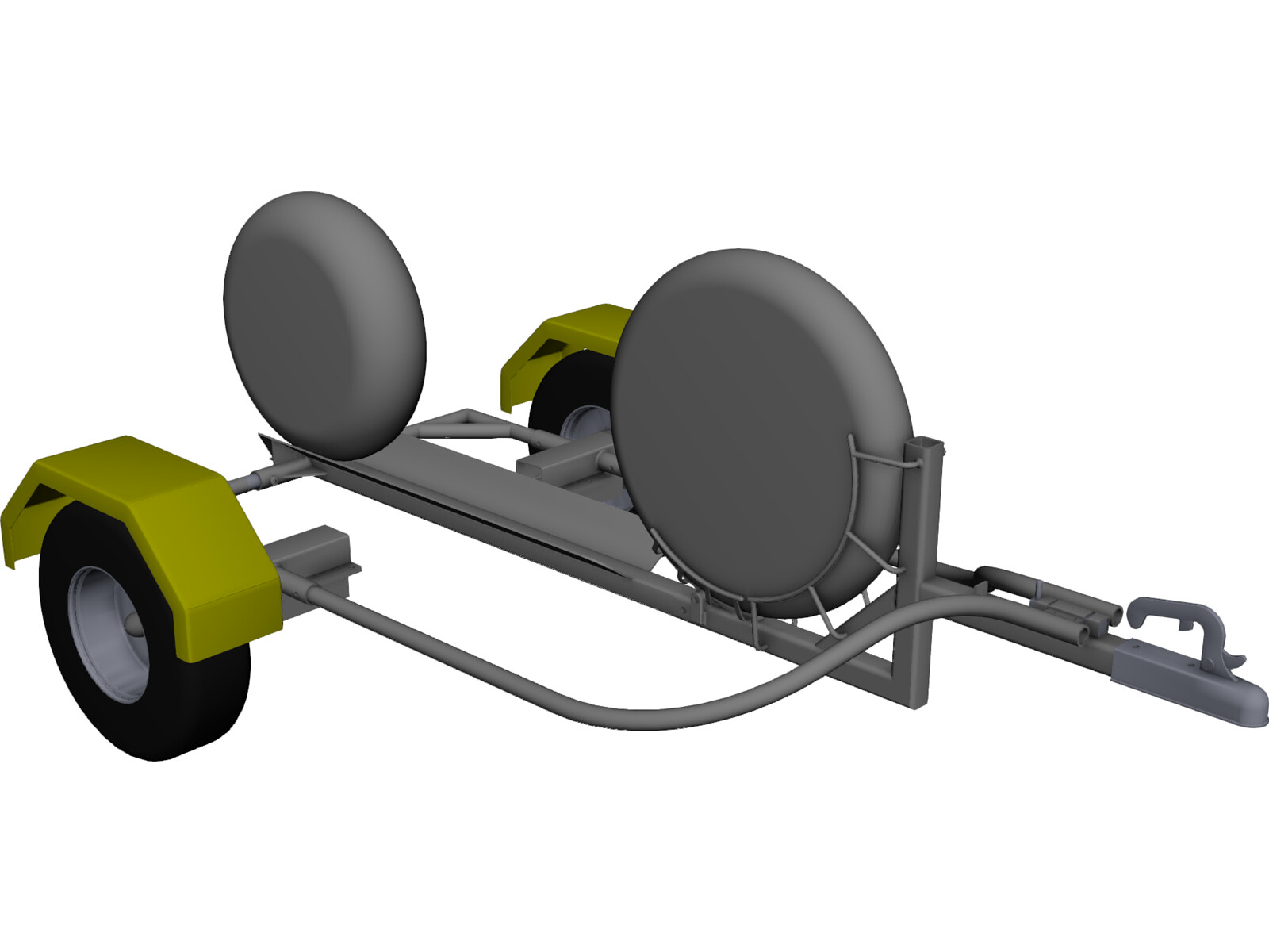 Collapsible Motorcycle Trailer 3D CAD Model