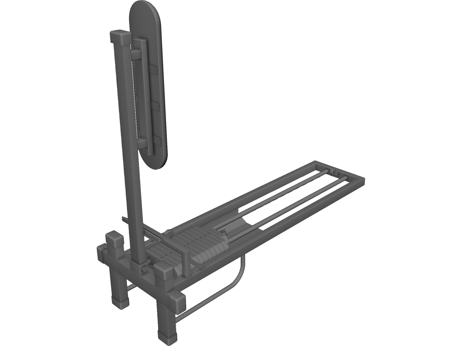 Cable Seated Low Row 3D CAD Model