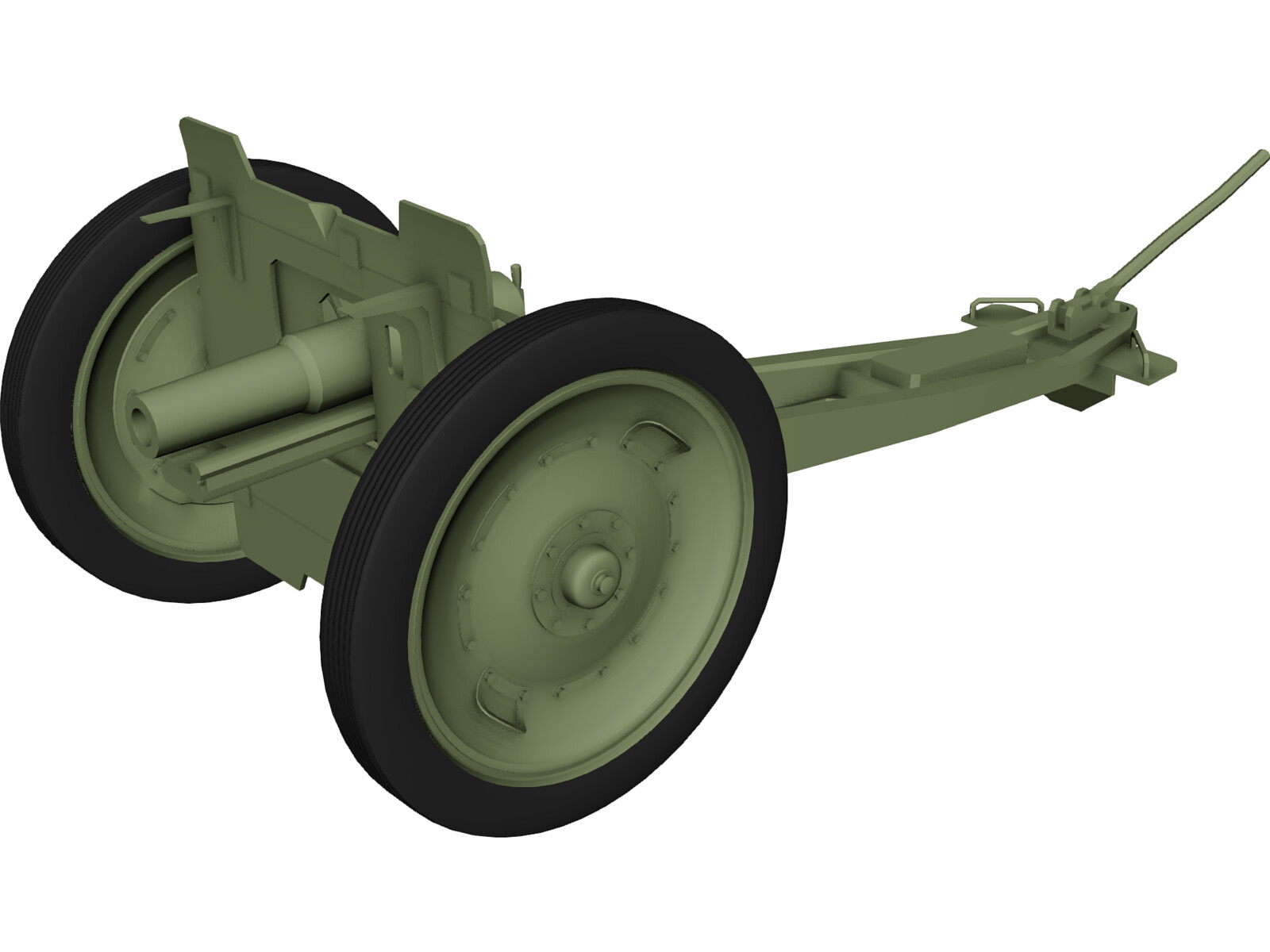 M1927 76,2-mm Regimental Gun 3D Model