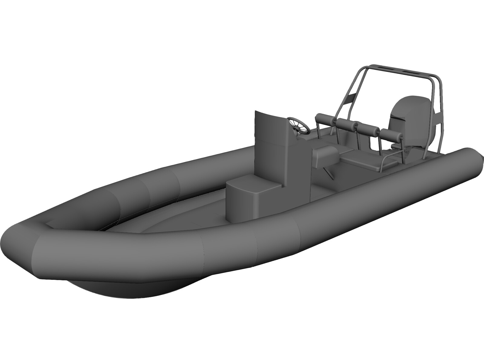 Raptor Rigid Inflatable Boat (Rib) 6.95m 3D CAD Model
