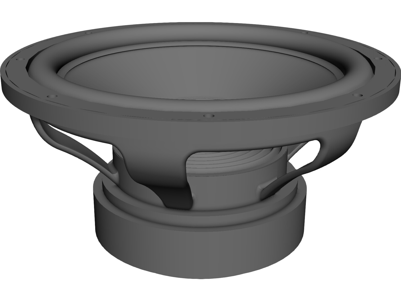 Subwoofer Bass Driver 12 inch 3D CAD Model
