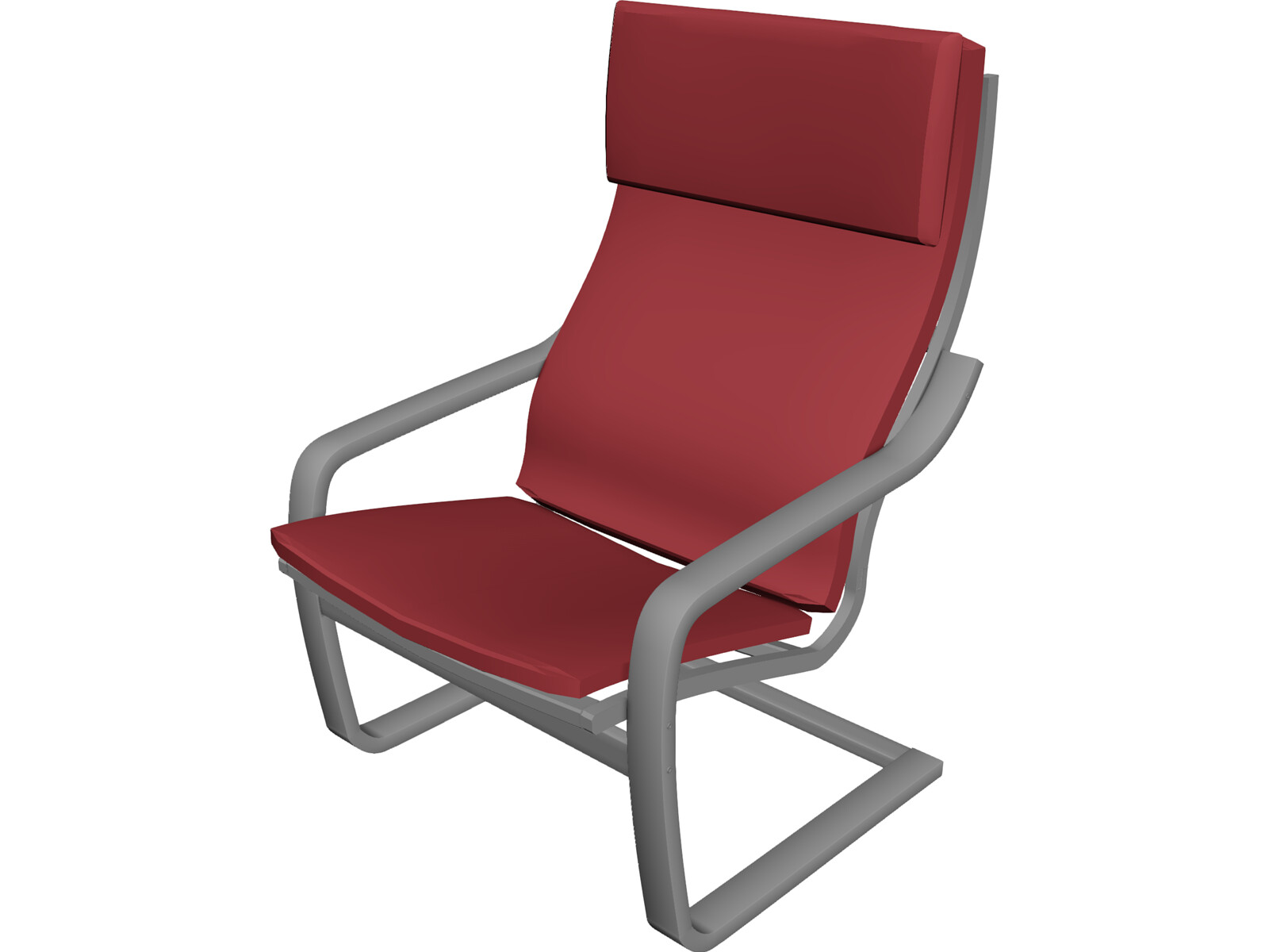 Poang armchair 3d model 3d cad browser - Chairs similar to poang ...