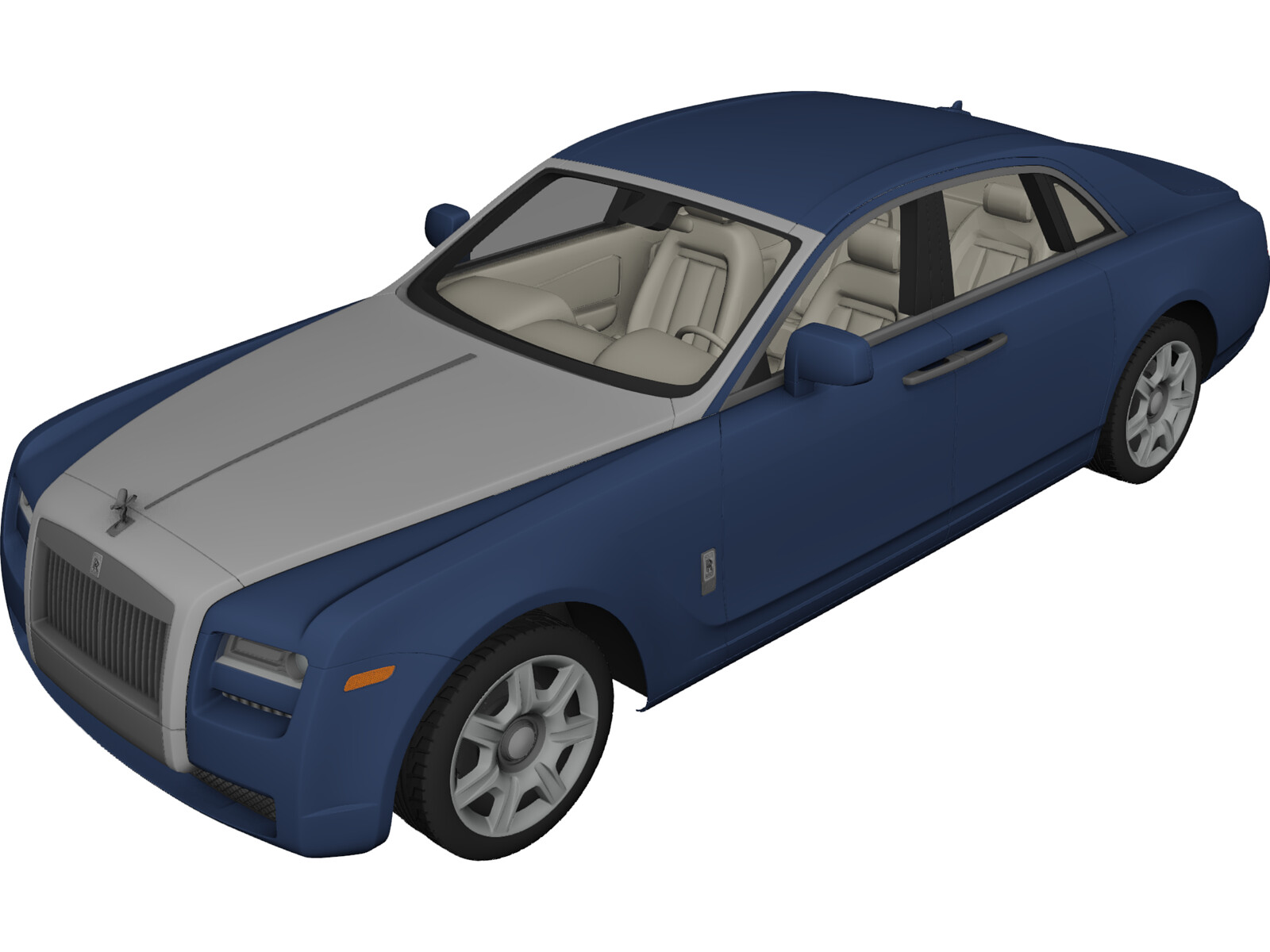 Rolls-Royce Ghost (2010) 3D Model
