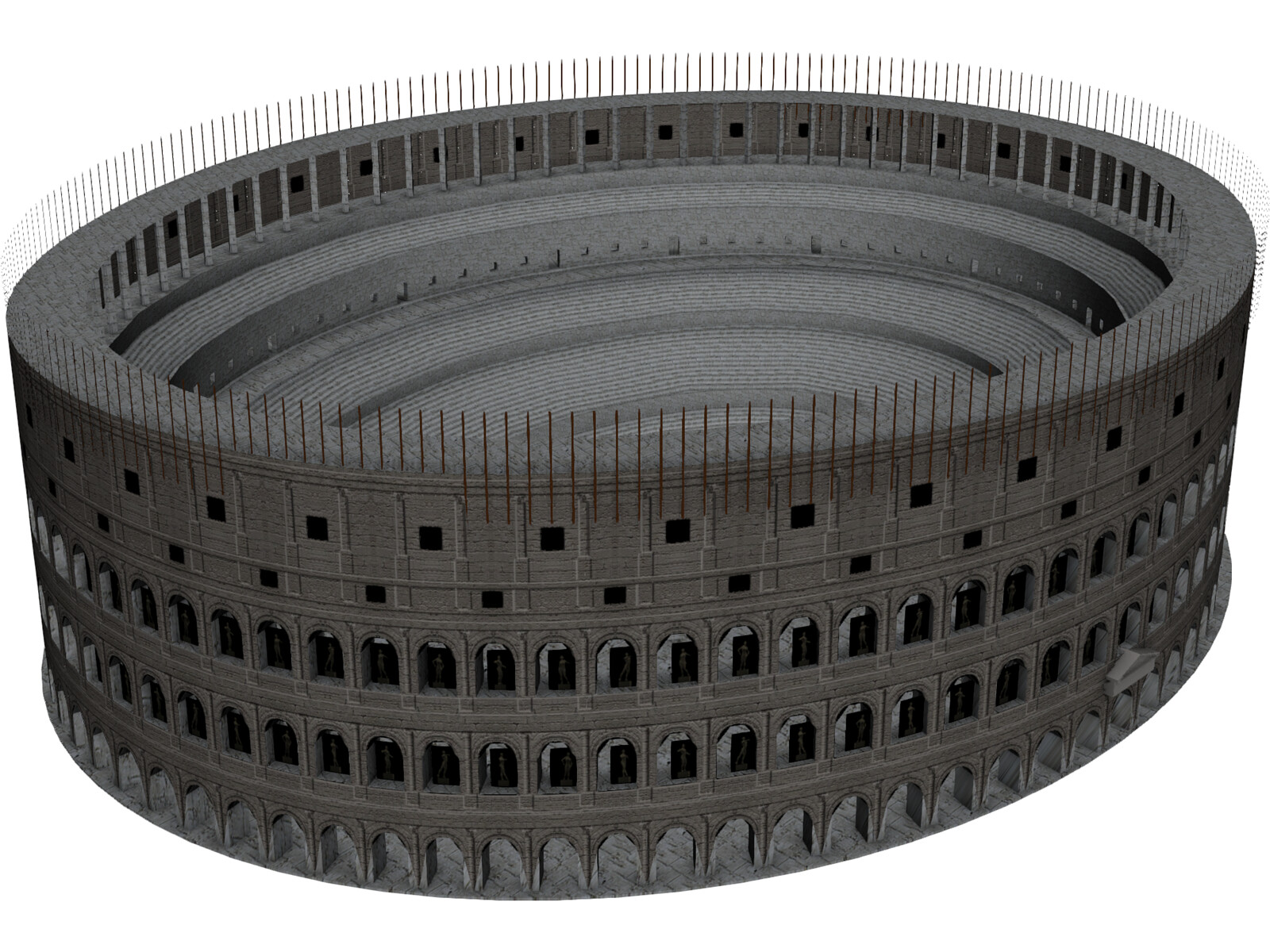 Roman Coliseum Low Poly